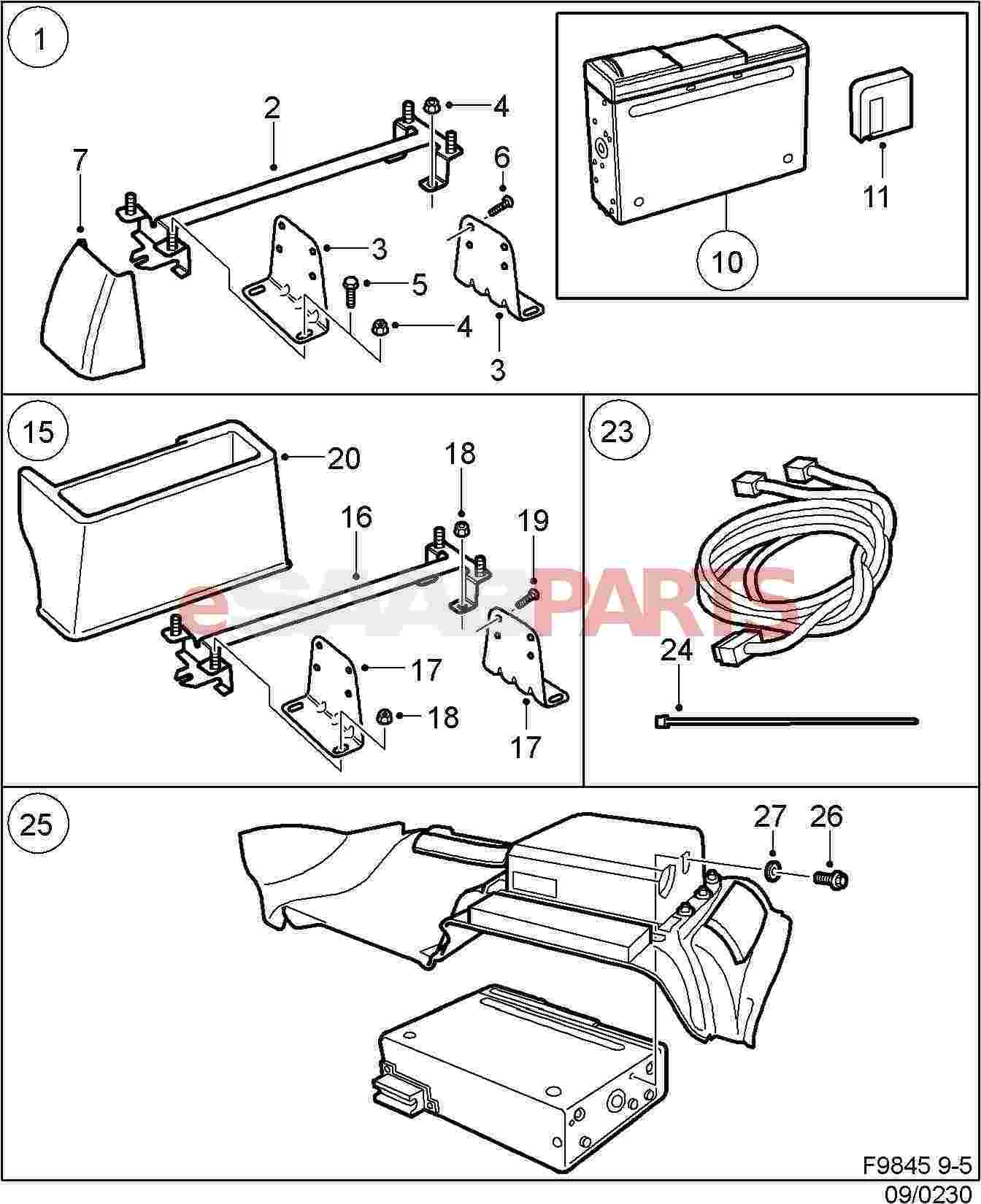 400129243  Saab Connection Cable  Cd-changer