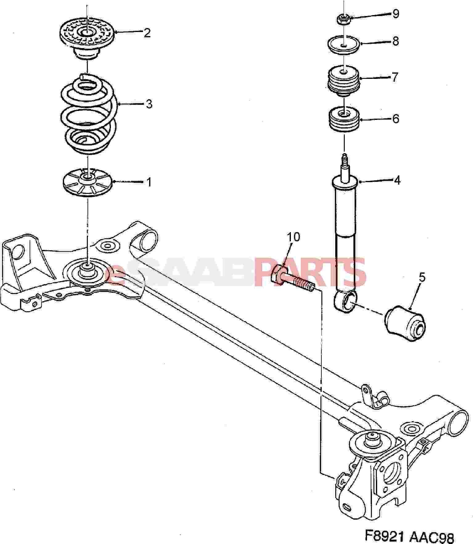 Parts.com® | Saab CONSOLE CENTER CONSOLE REAR ASHTRAY REAR ASHTRAY ...