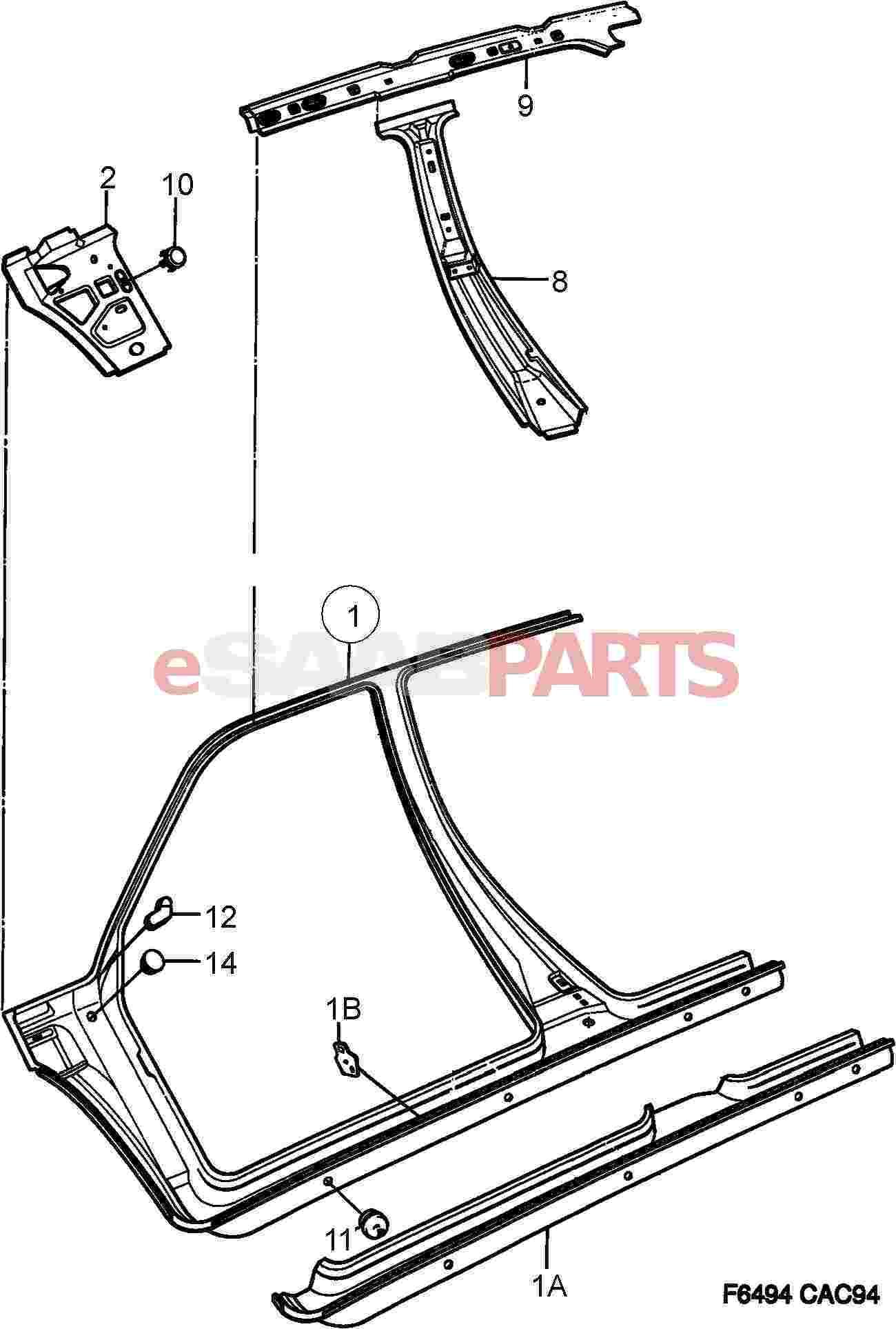eSaabParts.com - Saab 9000 > Car Body: External Parts > Body Parts ...