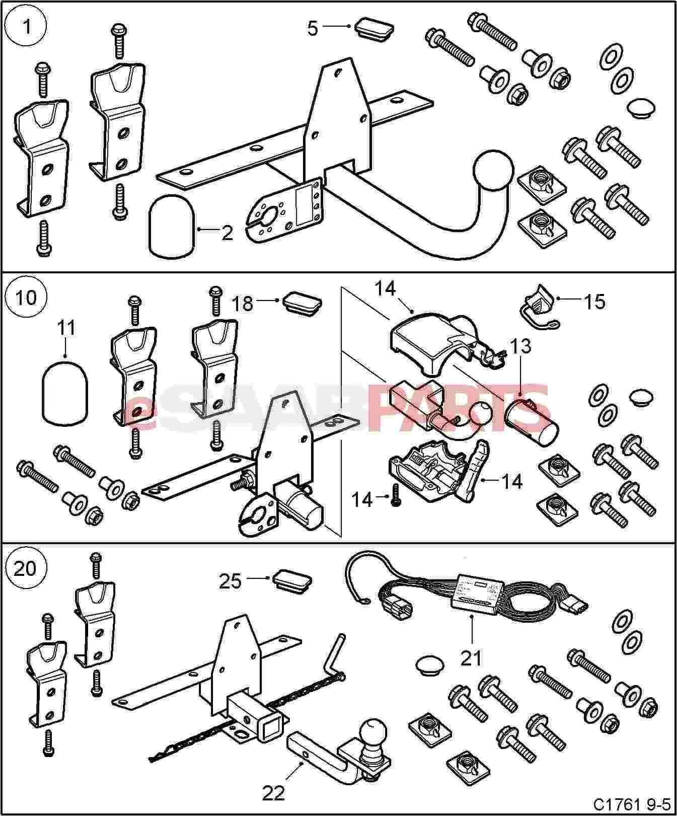 400108064 Saab Trailer Wiring Harness Genuine Parts From 9 5 Diagram Fitment