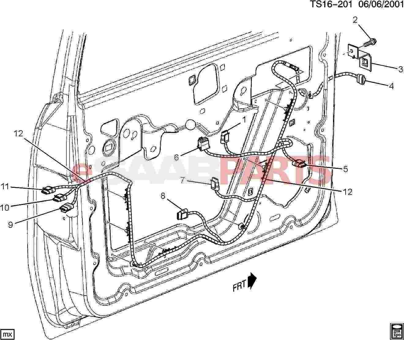 esaabparts com saab 9 7x \u003e electrical parts \u003e wiring harness 2009 Saab 9-7X