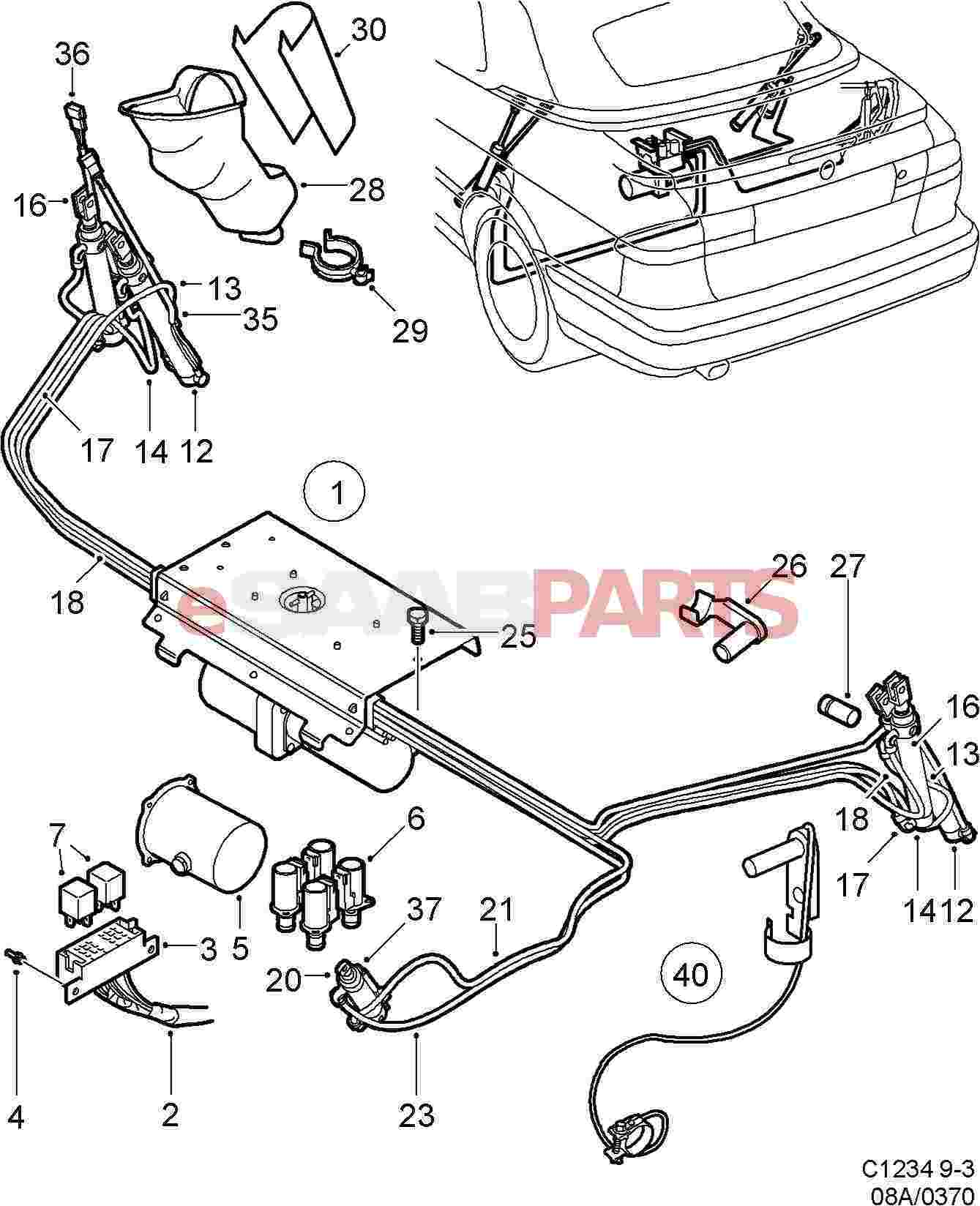 Saab 93 Convertible Roof Wiring Diagram