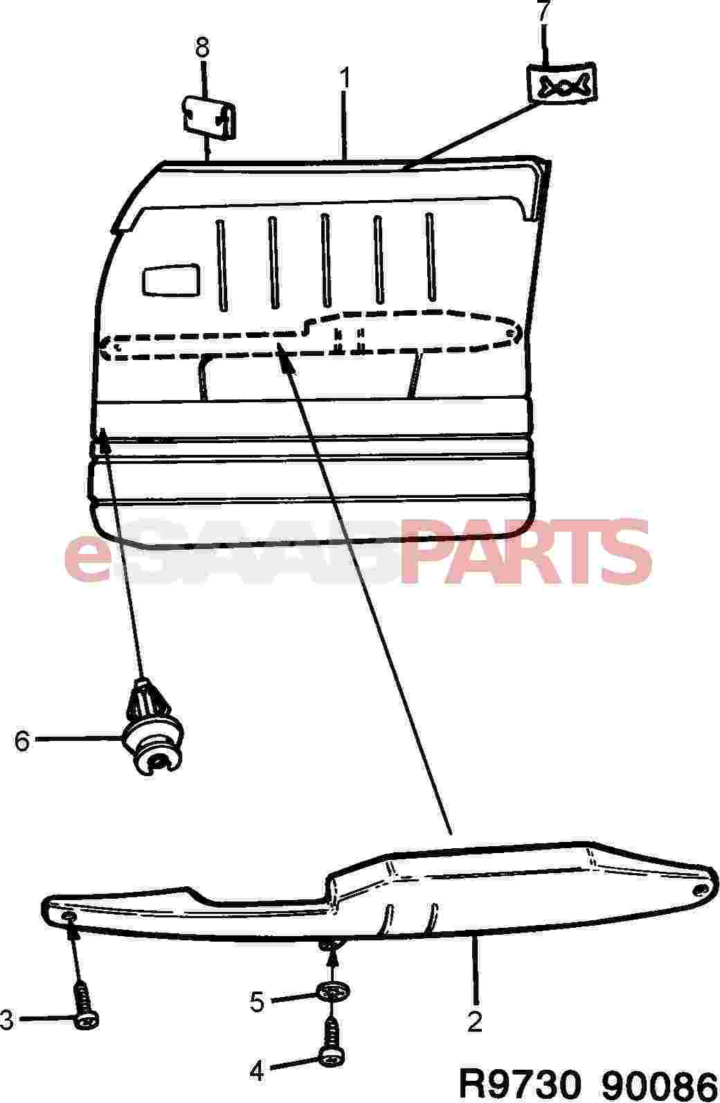 eSaabParts com - Saab 900 > Car Body: Internal Parts