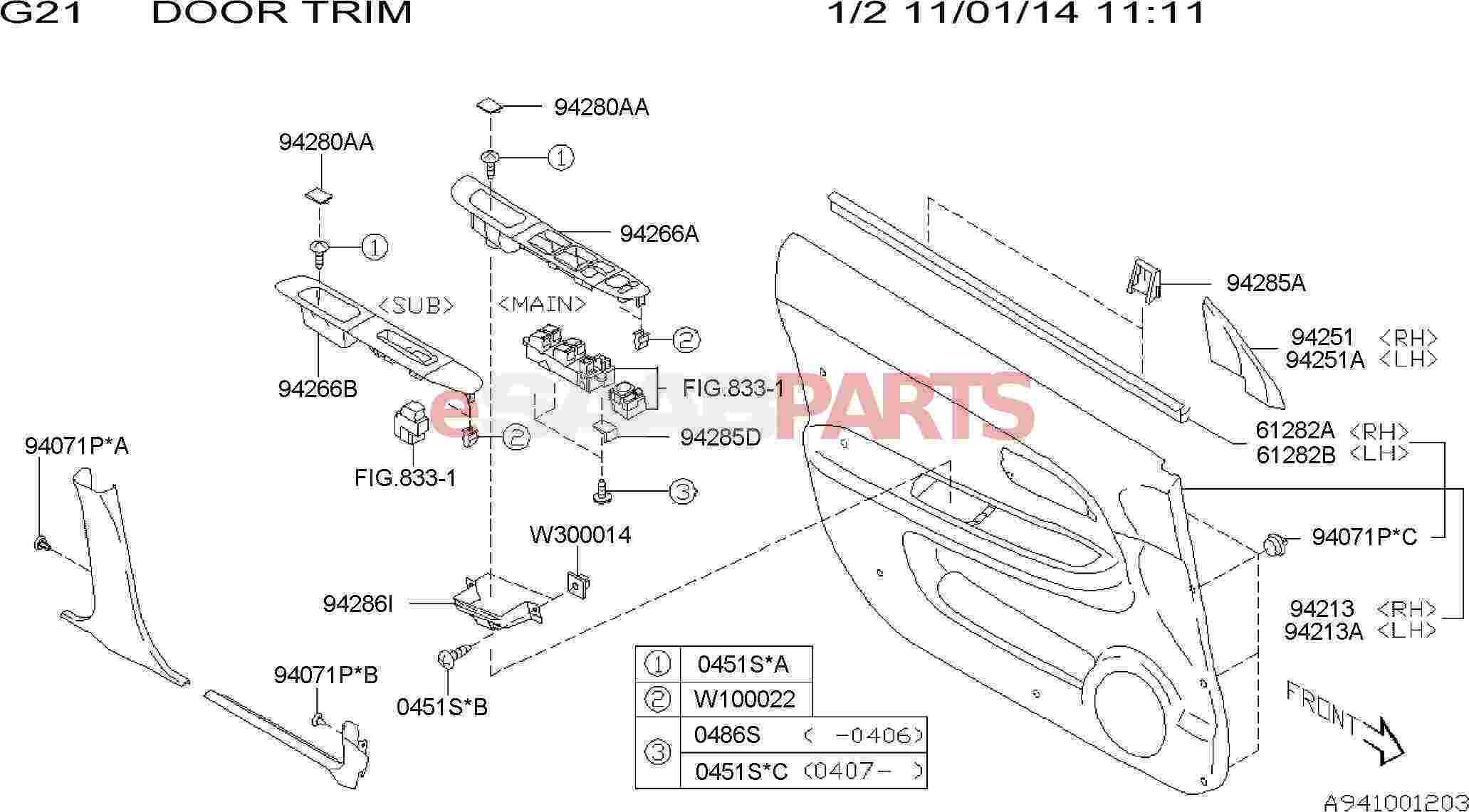 saab 9 7x 2006 part diagrams