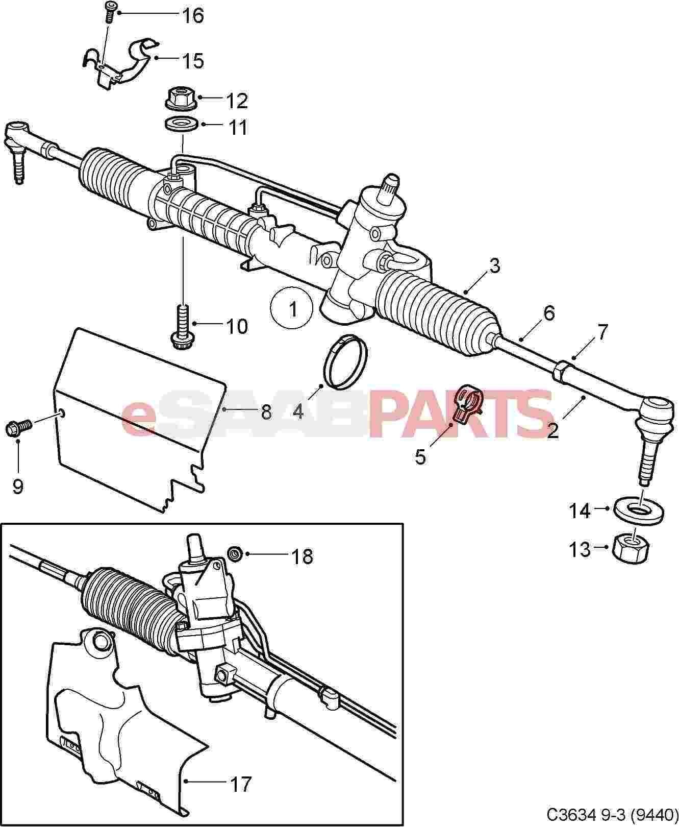 12801423 Saab Tie Rod Repair Kit Fwd B207 Manual Guide