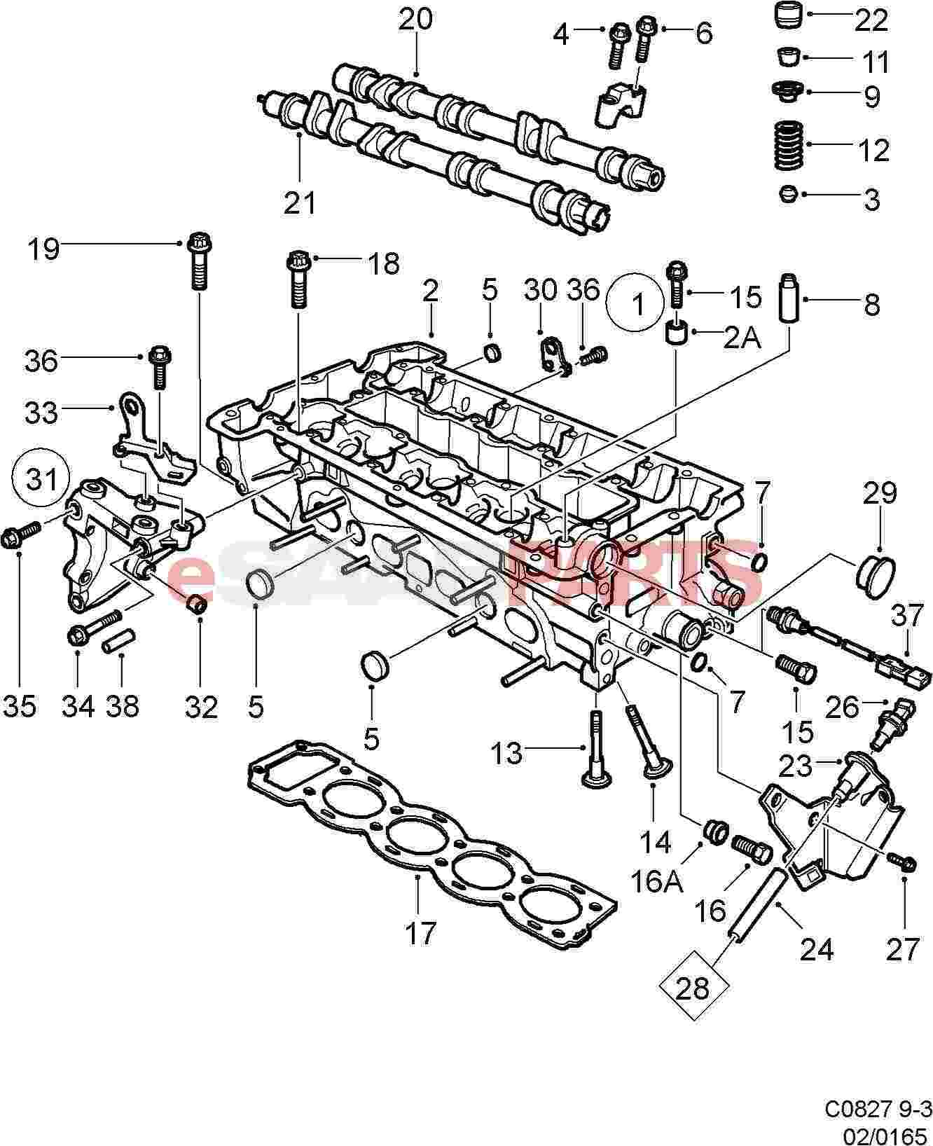 esaabparts com saab 9 3 9400 > engine parts > cylinder head esaabparts com saab 9 3 9400 > engine parts > cylinder head > cylinder head b205 b235