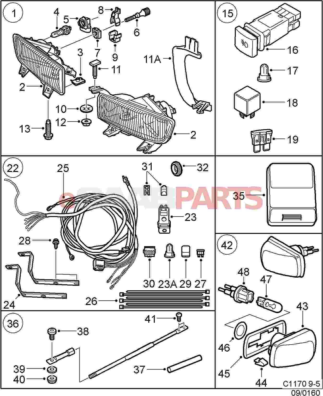 11900513 Saab Tie Strap Genuine Parts From 9 5 Wiring Diagram Image 26