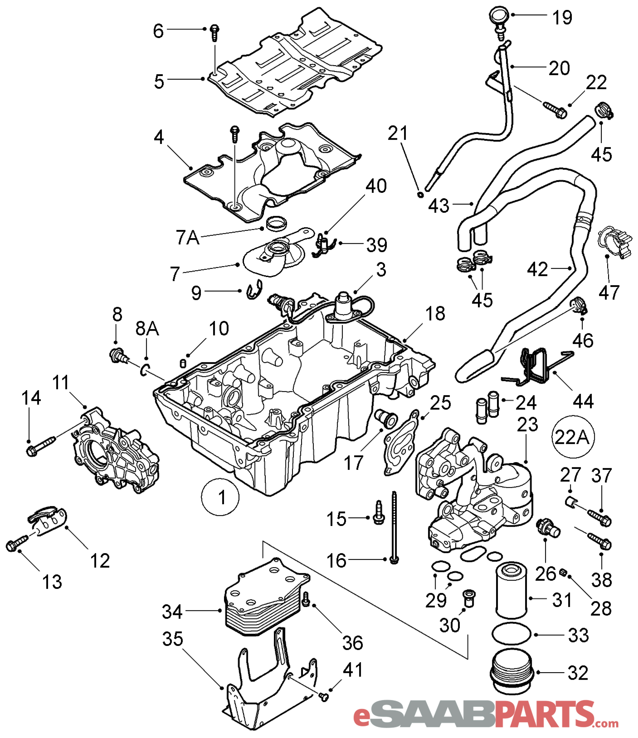 12637010 saab oil level sensor 2 8t genuine saab parts from rh esaabparts com Saab Parts Diagram Saab Parts Diagram