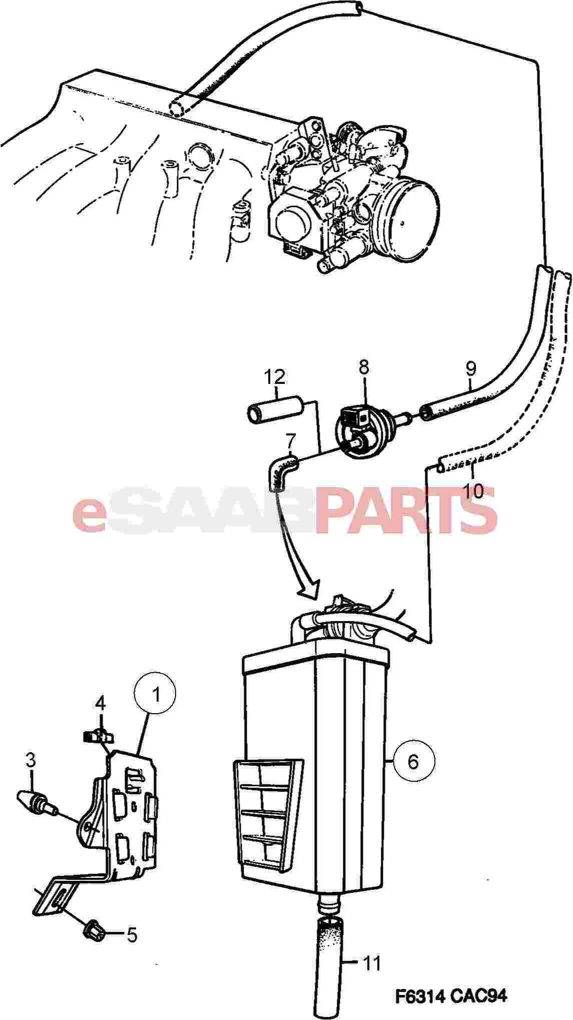 Admirable 7539257 Saab Evap Canister Purge Valve Genuine Saab Parts From Wiring 101 Archstreekradiomeanderfmnl