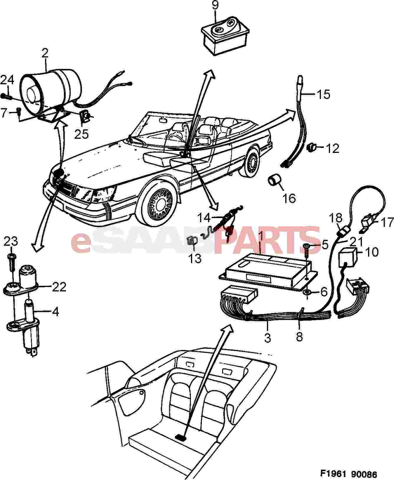 2004 saab convertible parts diagram
