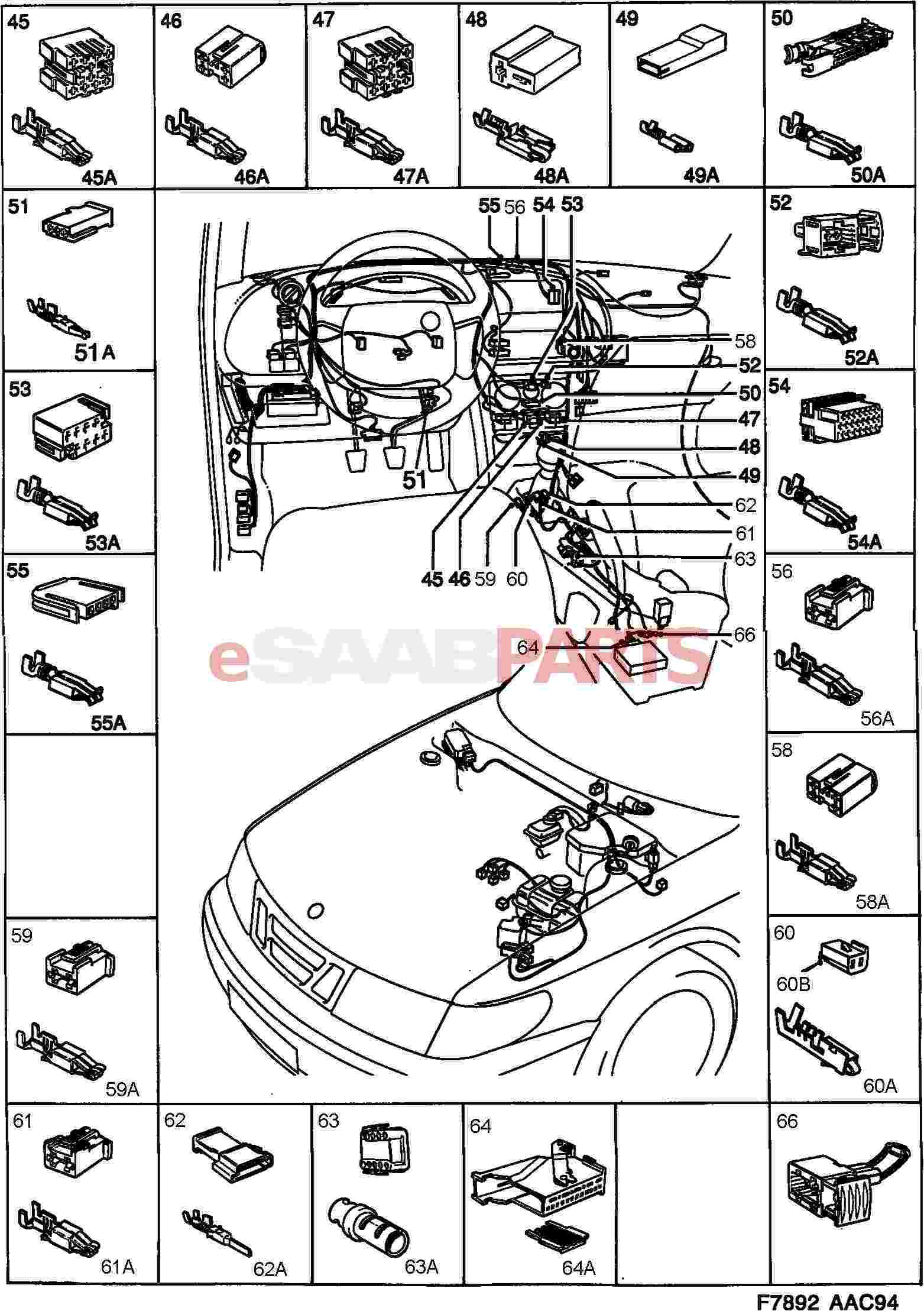 12790414 saab cable terminal genuine saab parts from. Black Bedroom Furniture Sets. Home Design Ideas