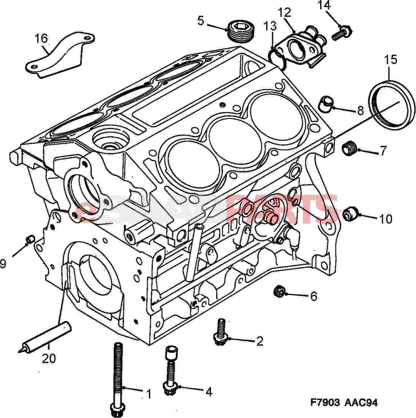 90325572  saab rear main seal - crankshaft