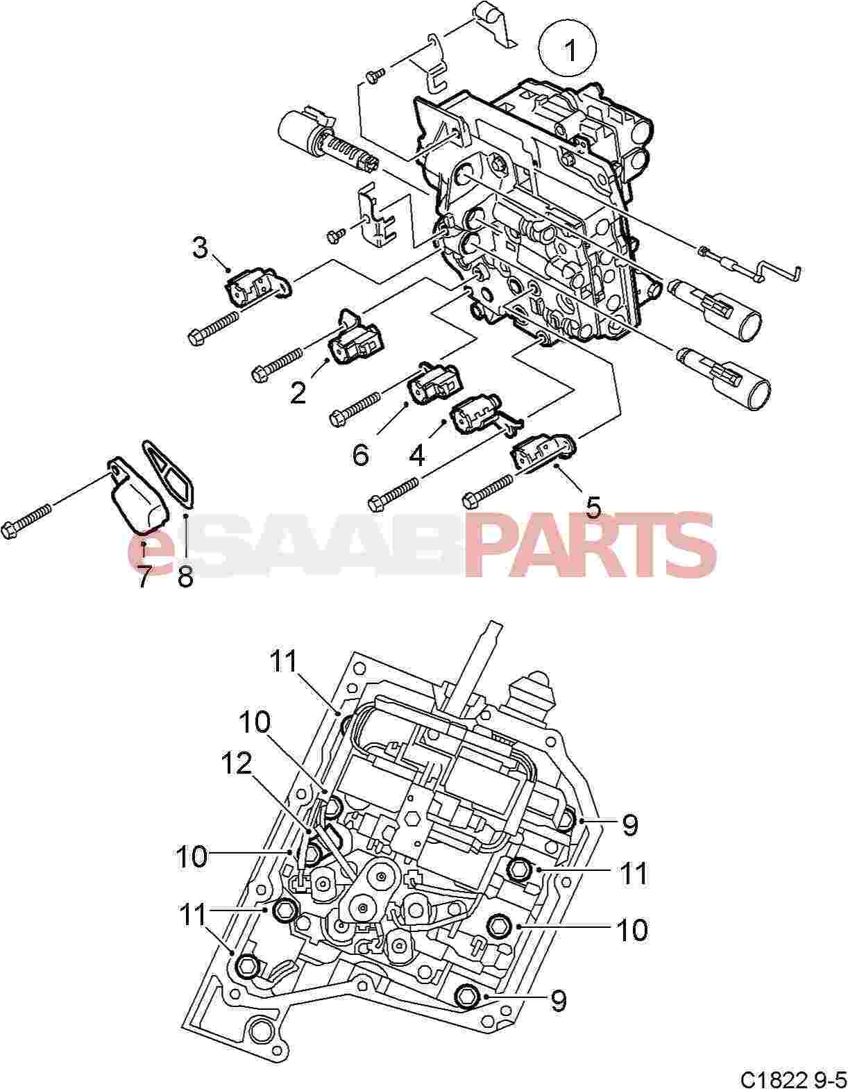 Saab Transmission Diagrams Wiring Manual Gearbox Diagram Esaabparts Com 9 5 9600 U003e Parts Rh Fluid