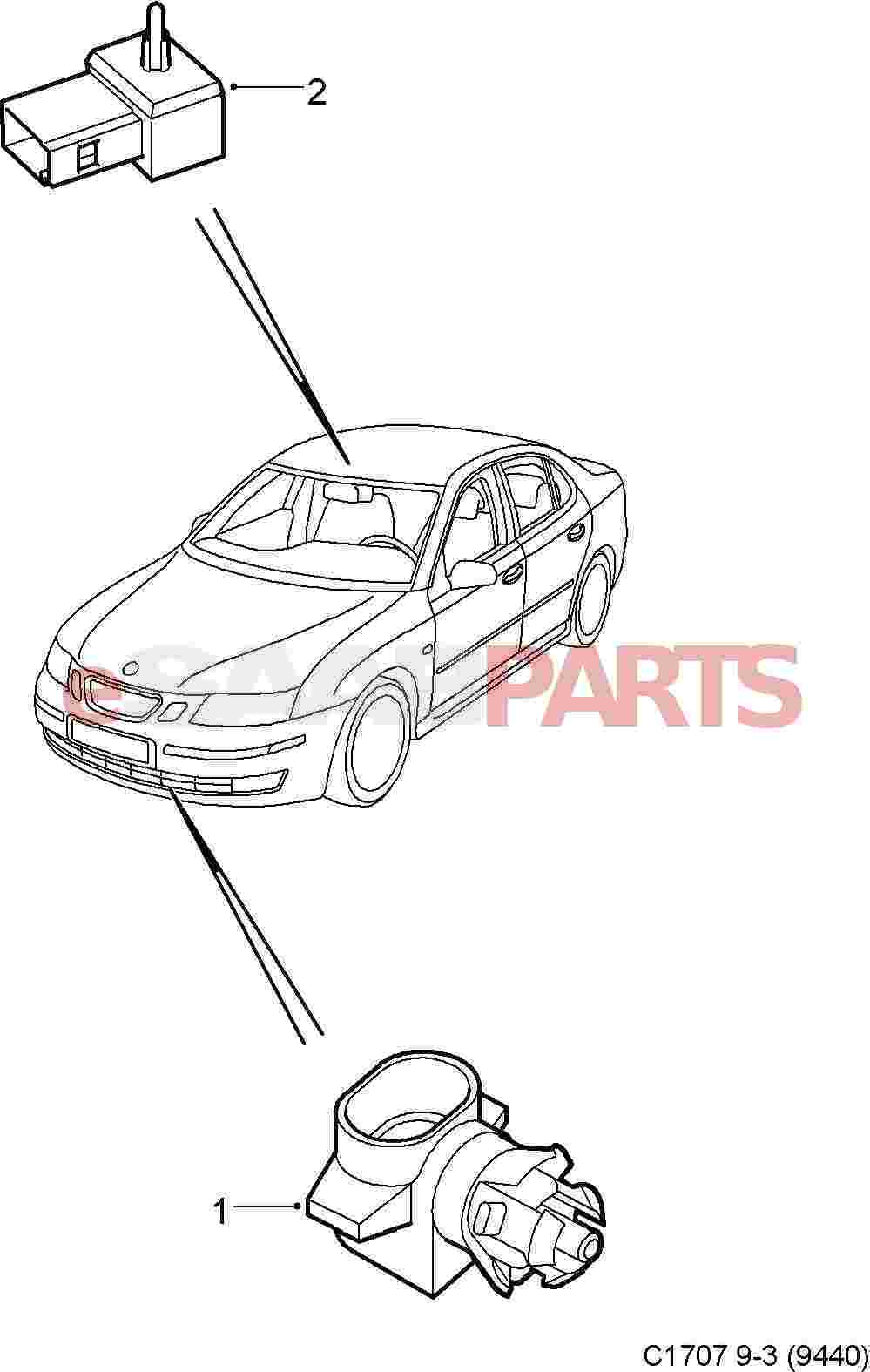 9152245  saab outside temperature sensor