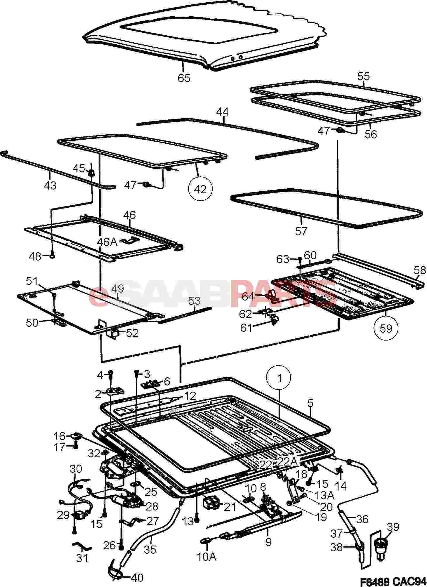 esaabparts com saab 9000 u003e car body external parts u003e sunroof rh esaabparts com saab 9000 parts catalog Saab Engine Parts