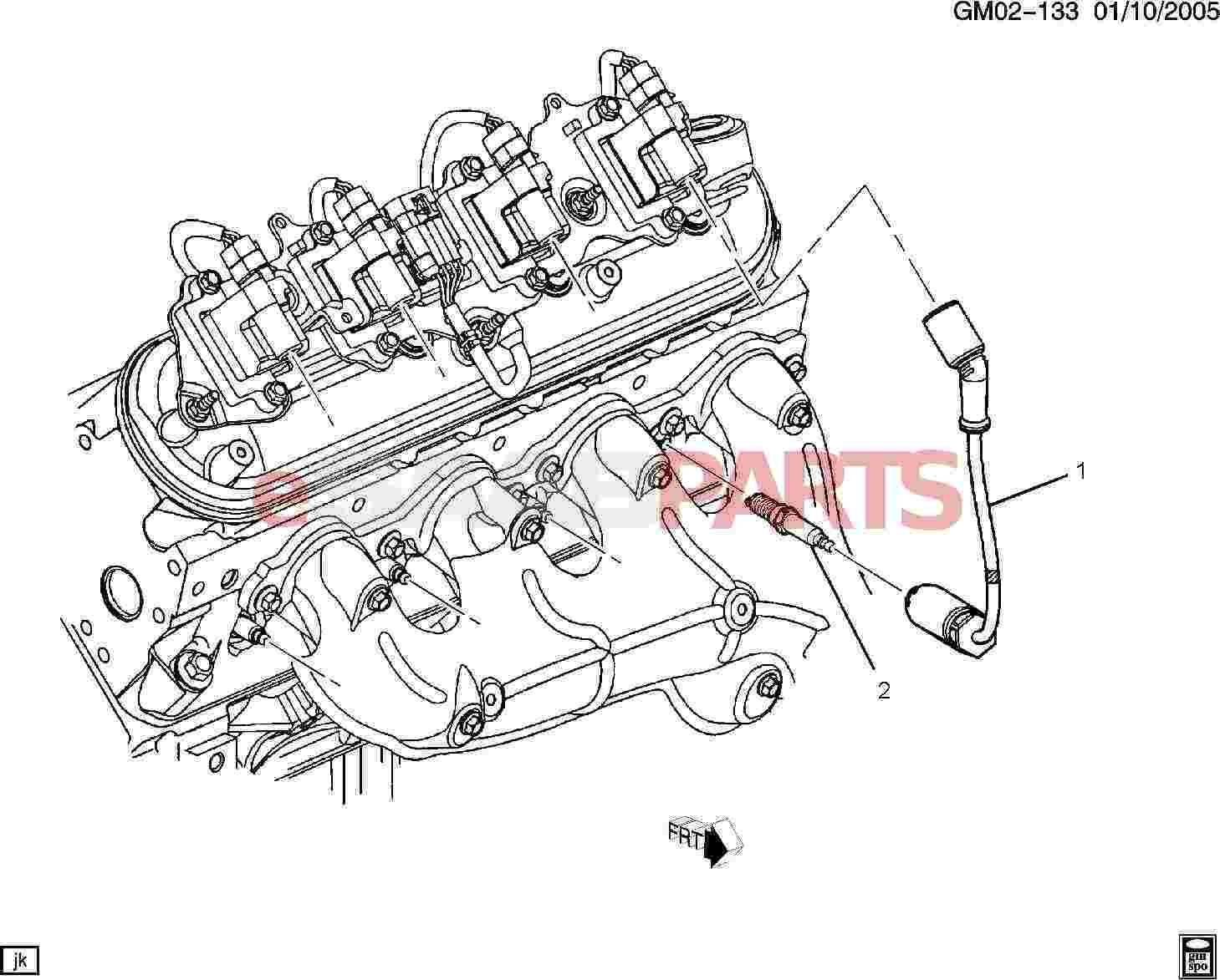 diagram of spark plugs and wires on a 1999 saab 9 5