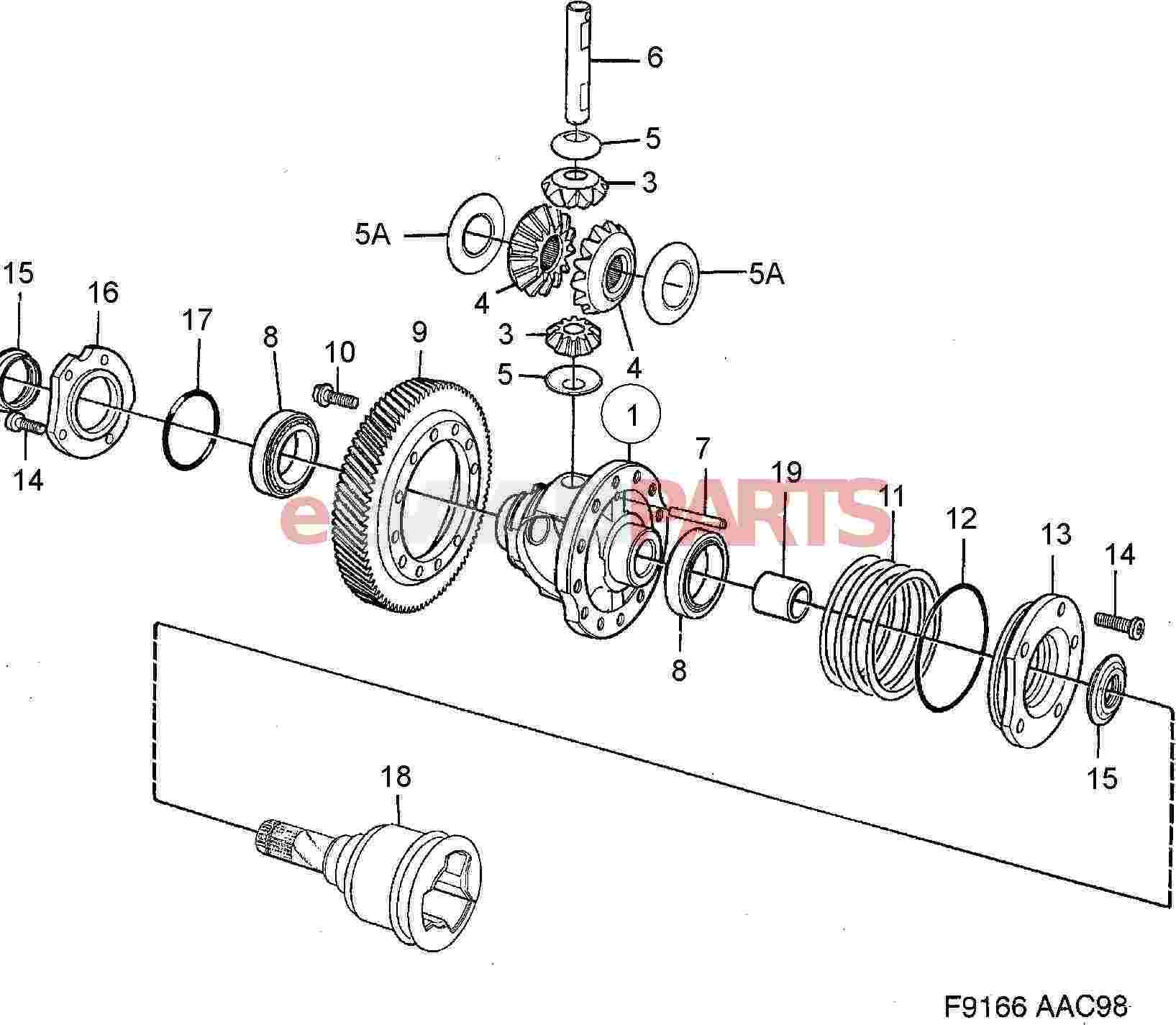 55353153  saab axle seal  manual transmission