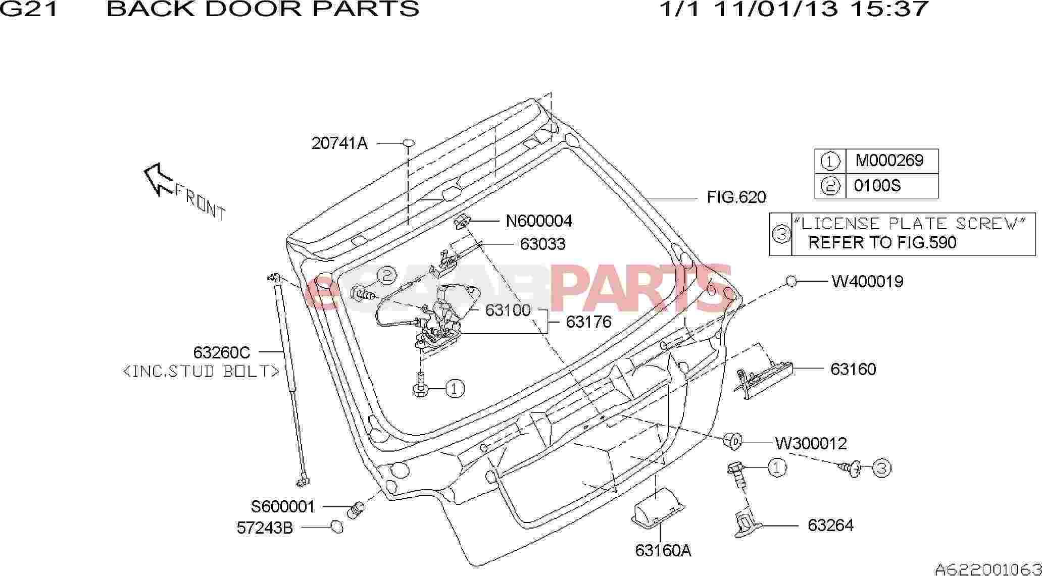 eSaabParts.com - Saab 9-2x > Car Body: External Parts > Frame ...