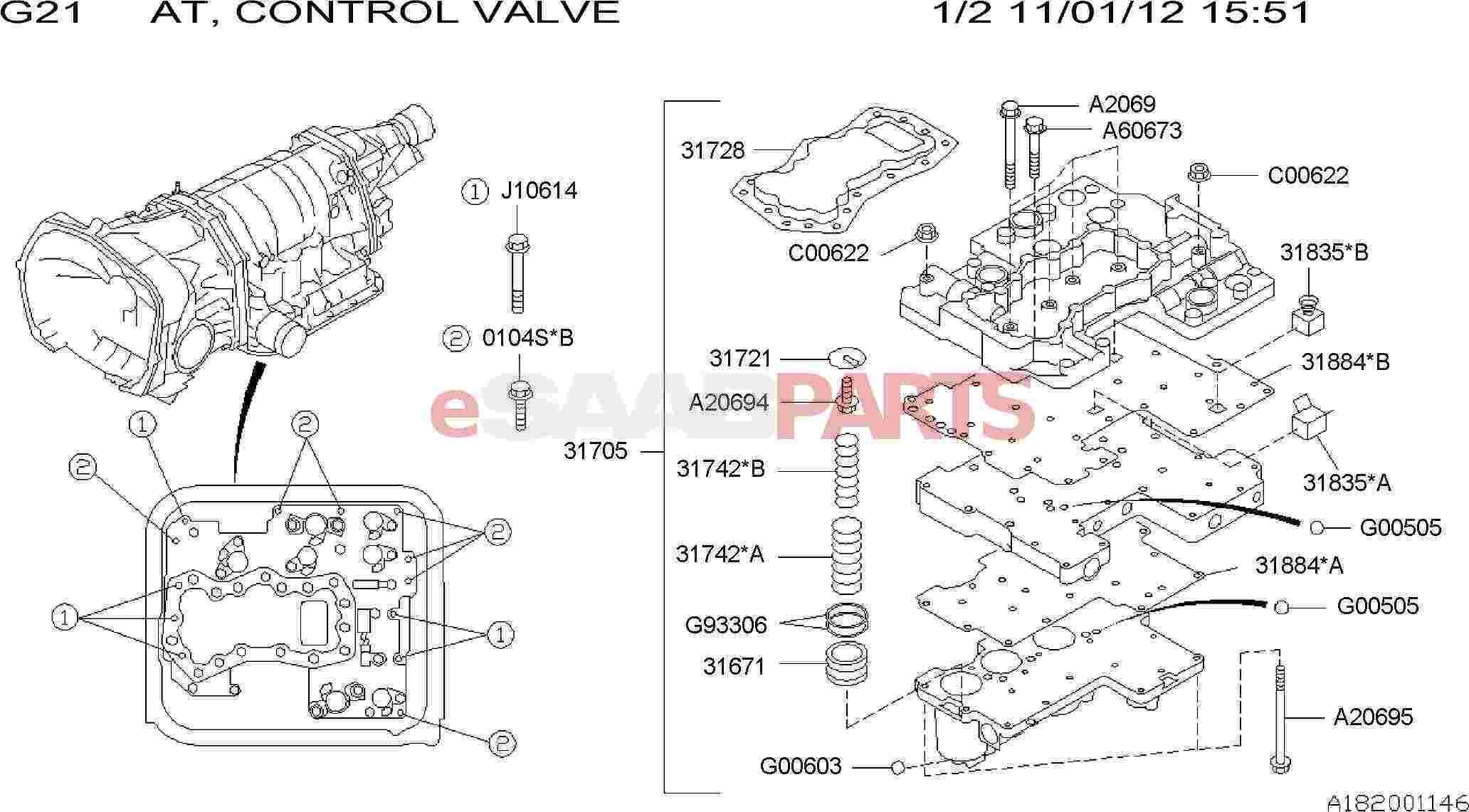 32009601  saab valve assembly-control