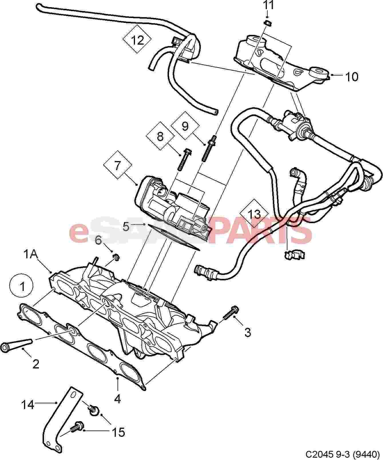 12786376  Saab Positive Crankcase Ventilation Valve