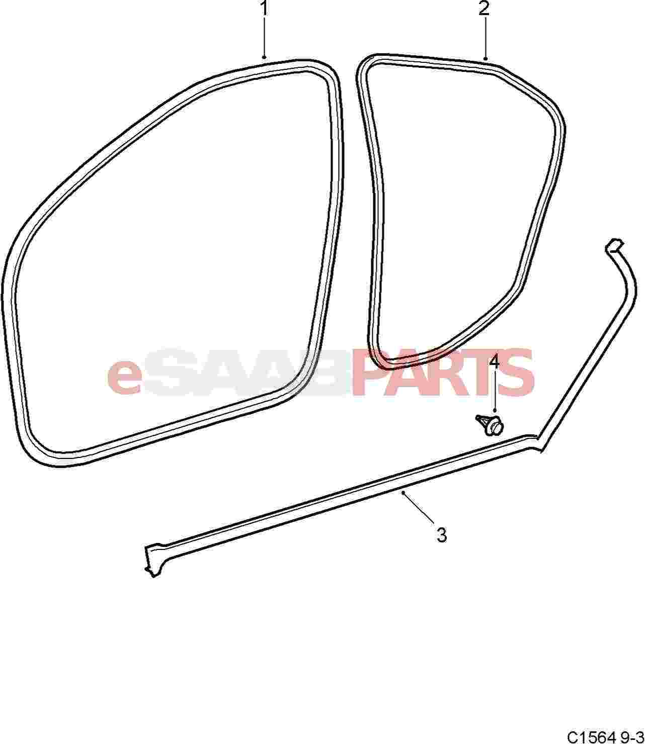 eSaabParts.com - Saab 9-3 (9440) > Car Body: External Parts ...