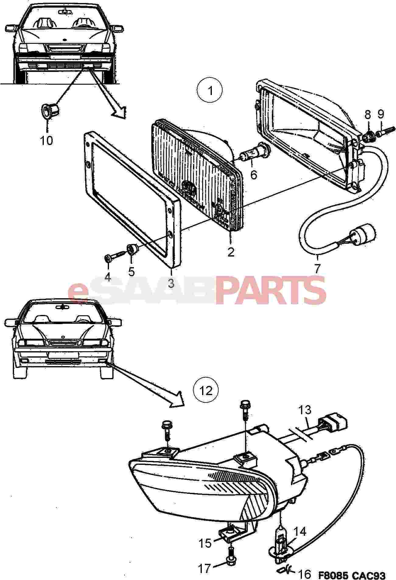 saab 9 3 windshield washer diagram
