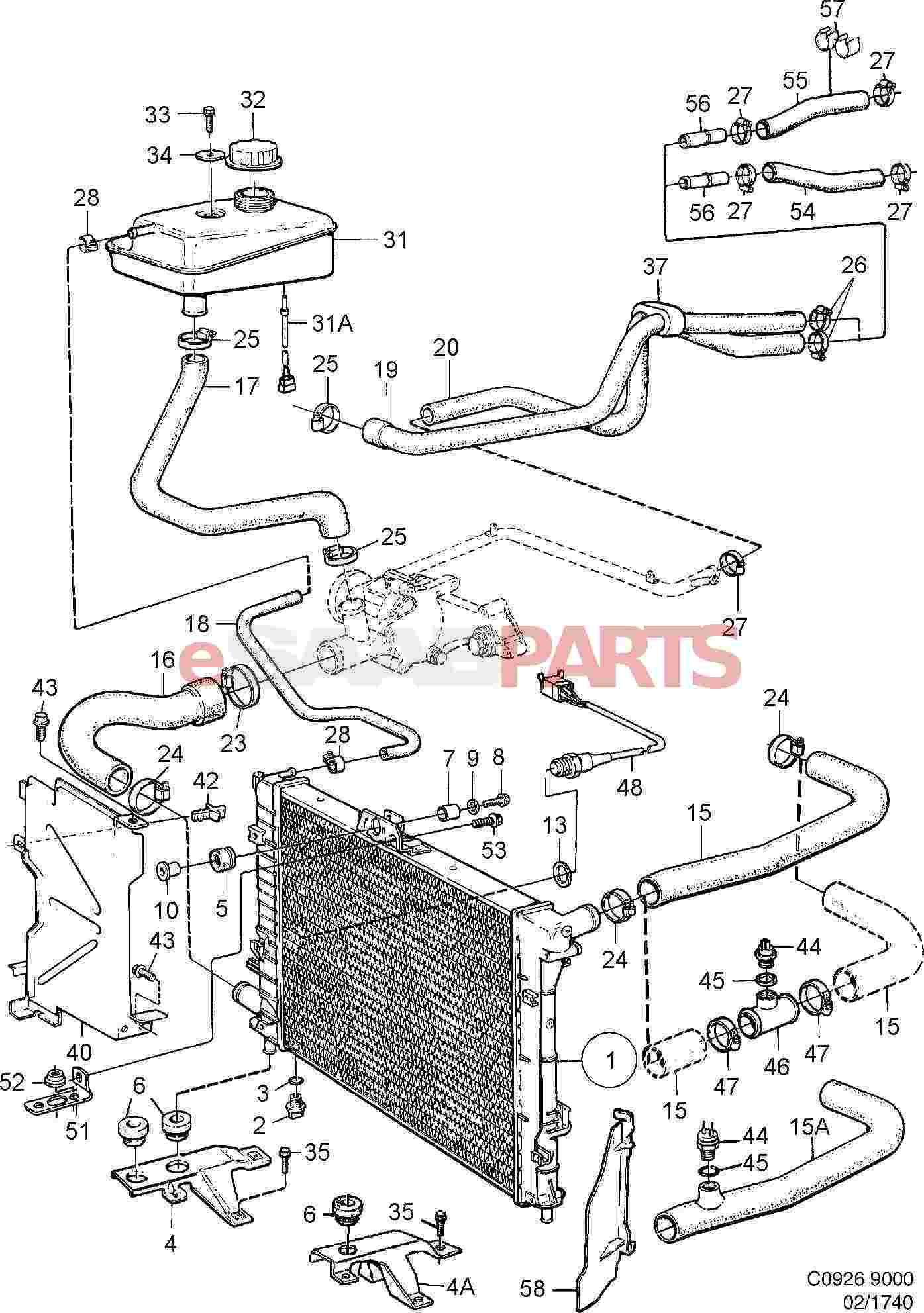 saab 9000 cooling system diagram