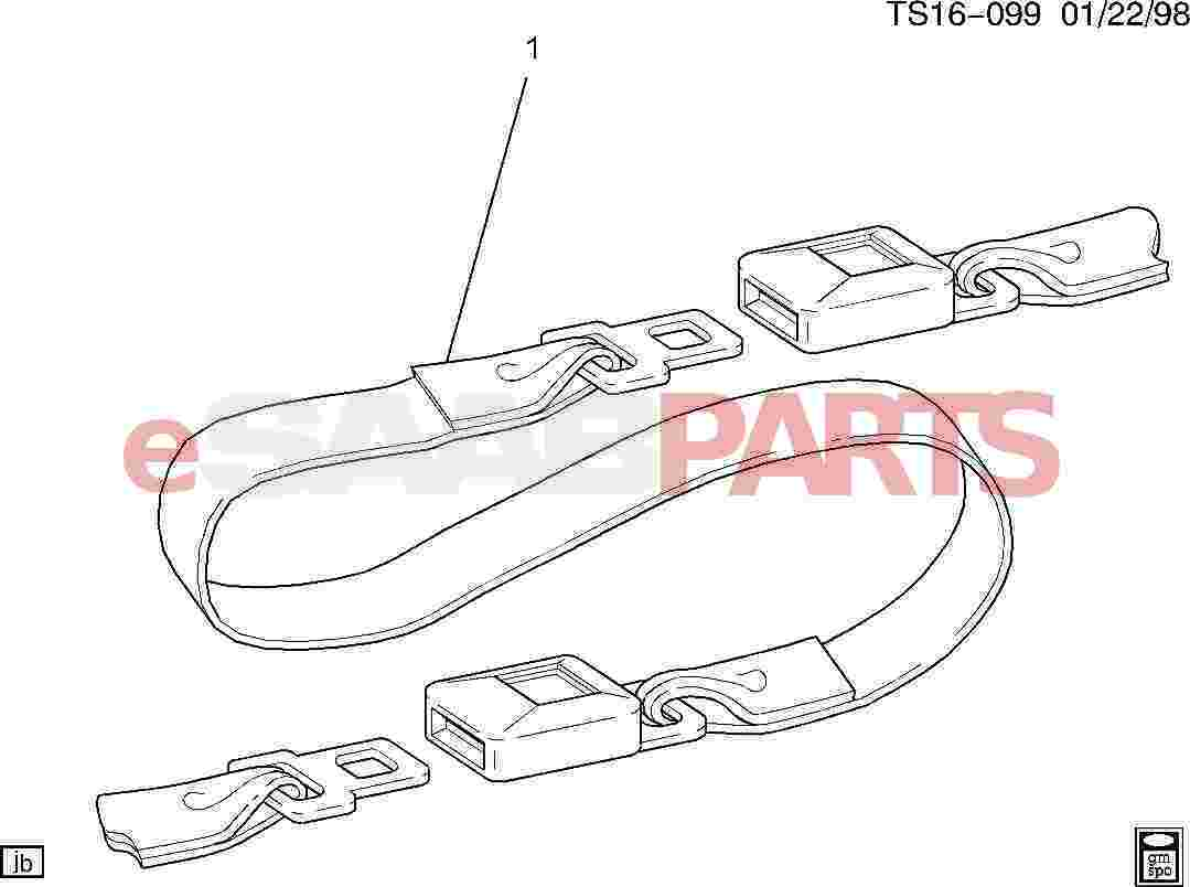 89024730  saab extension kit  f  seat belt