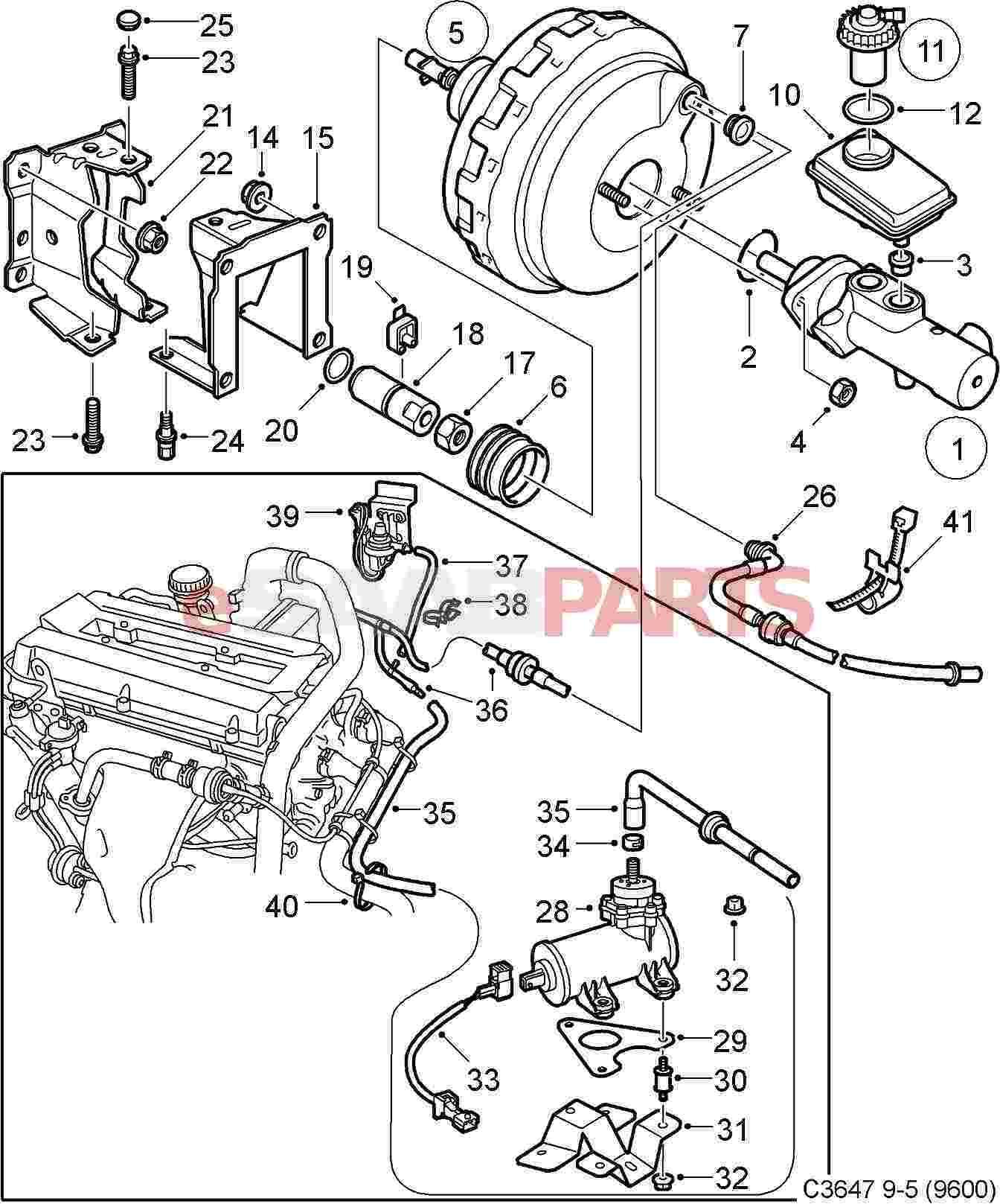 9136243 saab vacuum hose genuine saab parts from esaabparts 1999 Pontiac Grand Prix Exhaust Diagram diagram image 37