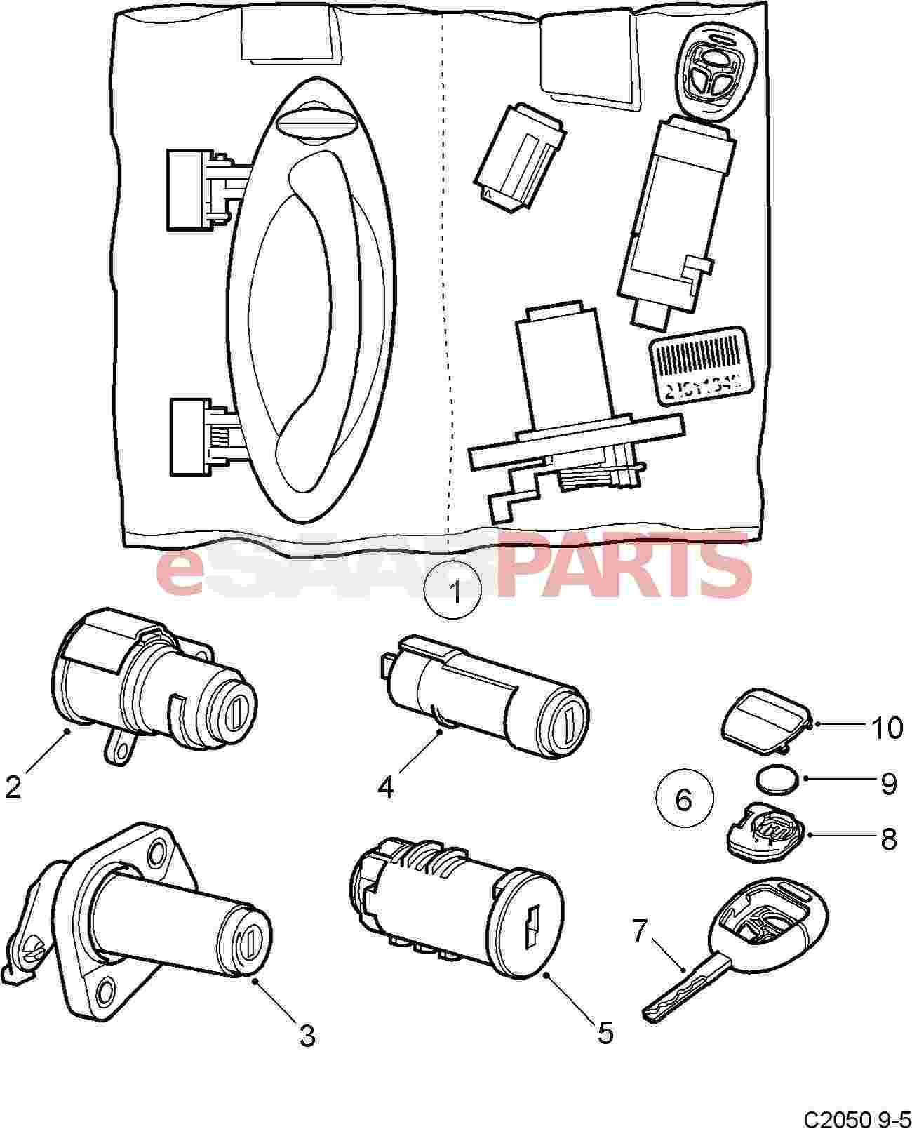 32018043 saab key blade cut 9 5 2003 2009 genuine saab parts rh esaabparts com Saab Parts Diagram 2003 Saab 9-3 Fuse Box Diagram
