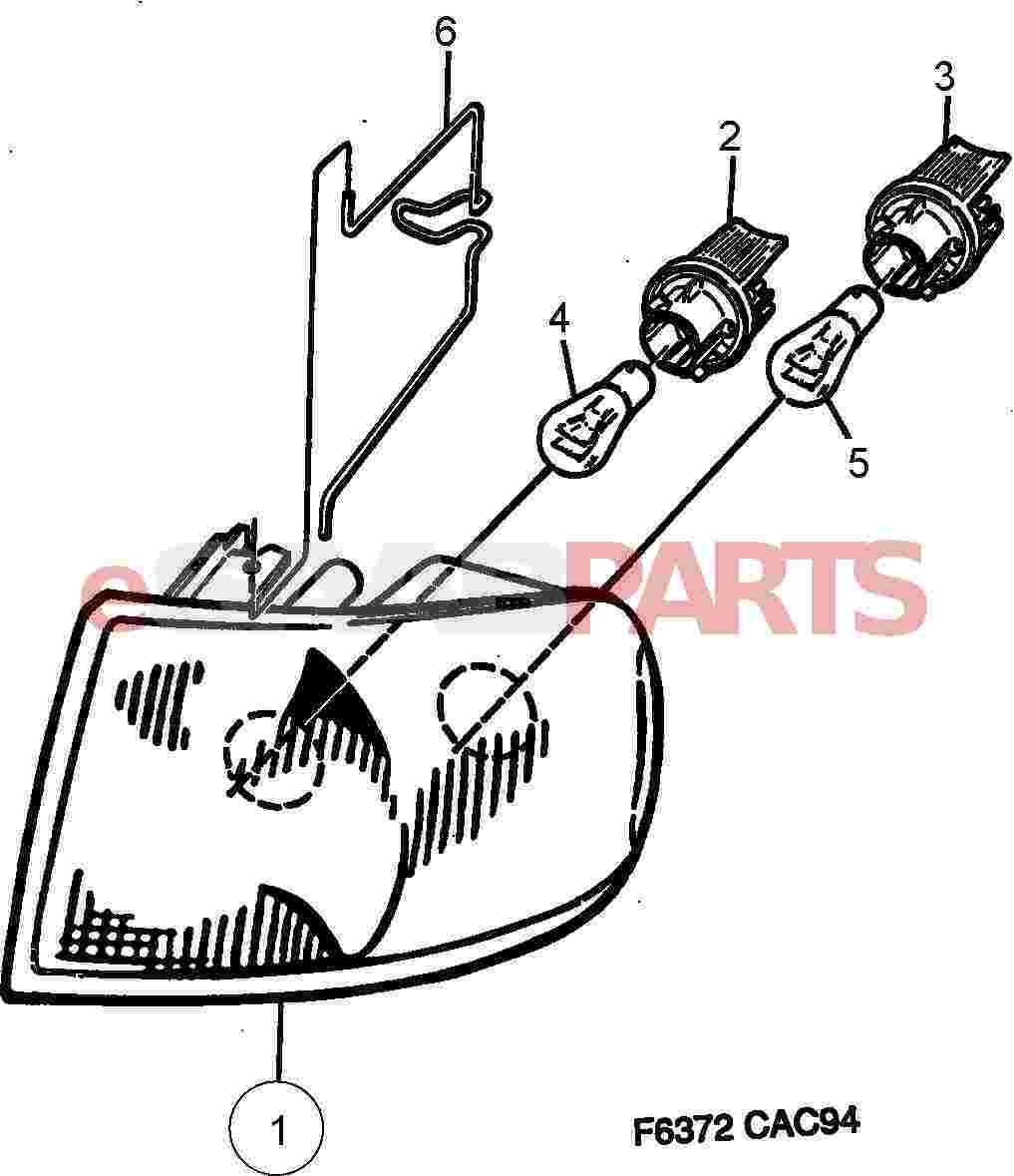 Saab 9000 Electrical Parts Lights Related 1995 Wiring Diagram Lamp Cluster 4d From Model Year