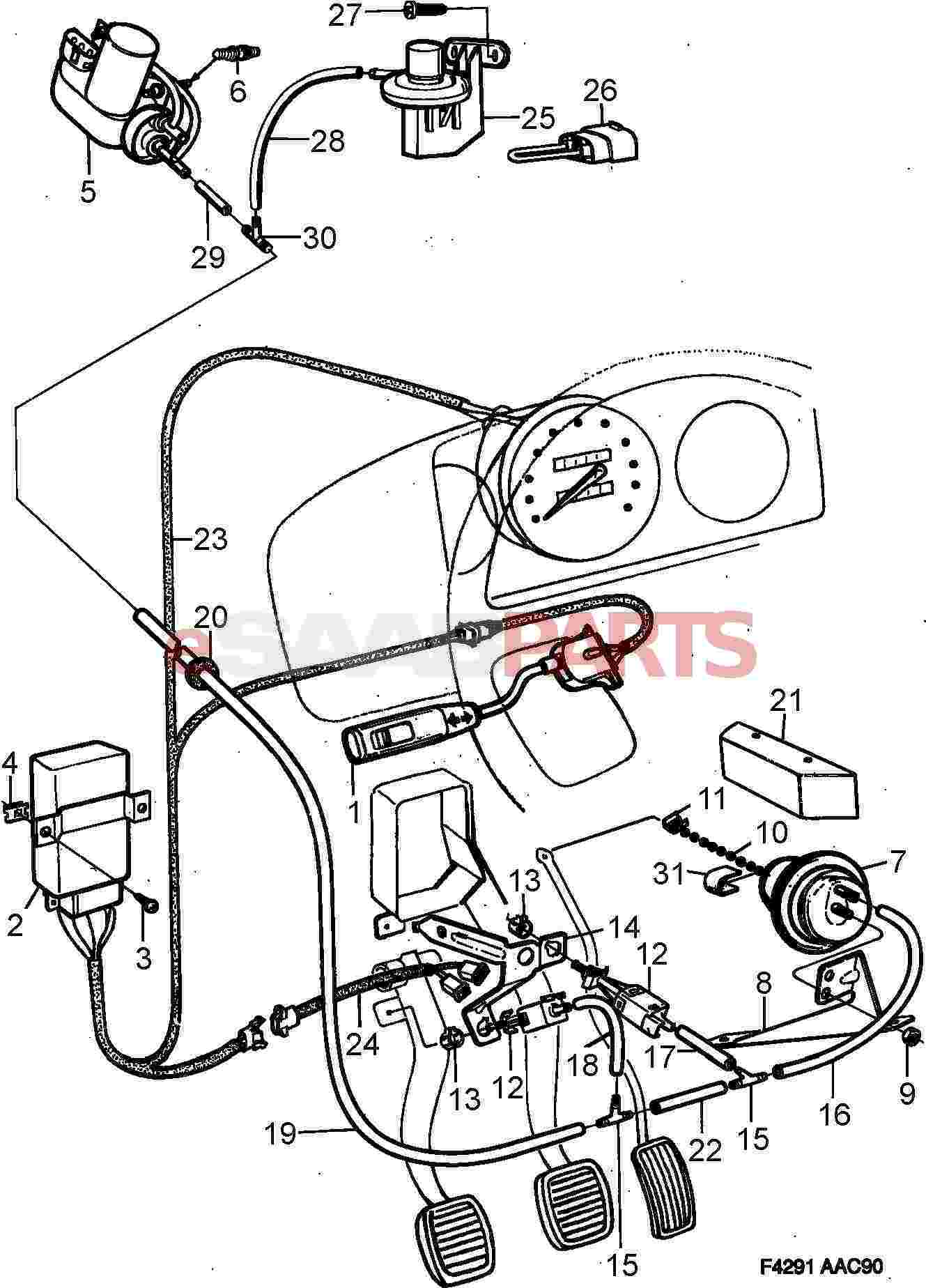8587024 saab vacuum pump genuine saab parts from esaabparts com rh esaabparts com Ford Cruise Control Diagram GM Cruise Control Wiring Diagram