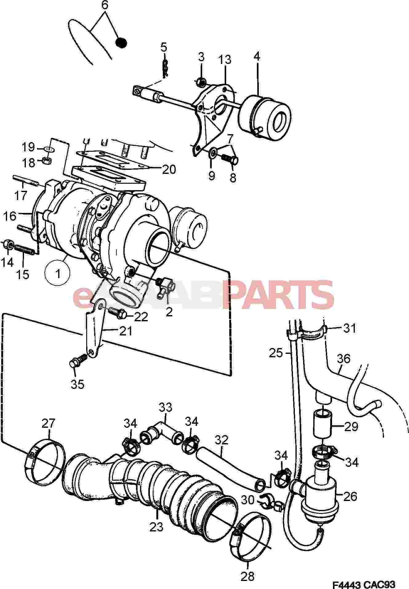 9136243 Saab Vacuum Hose Genuine Parts From 134 F Head Engine Diagram Image