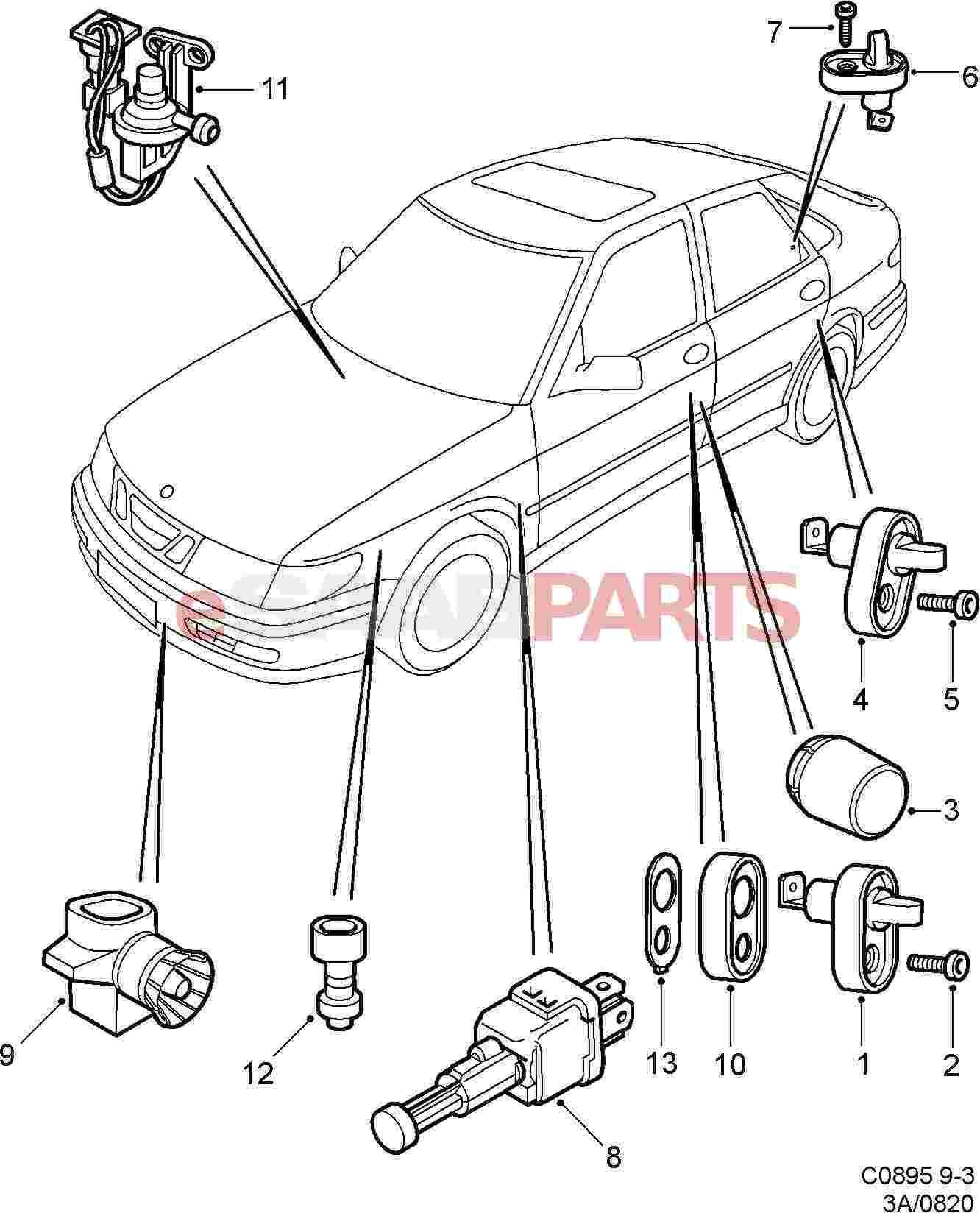 9152245  Saab Outside Temperature Sensor