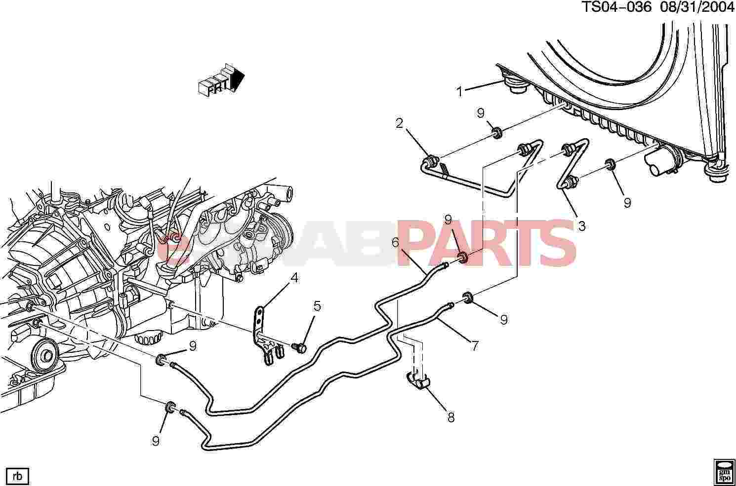15199031 saab clip trans fluid clr pipe genuine saab parts from rh esaabparts com Oil Film Oil Change Diagram