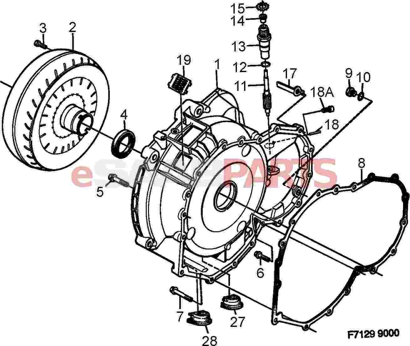 4477394 saab gasket genuine saab parts from esaabparts com rh esaabparts com Saab 900 Automatic Transmission 2001 Saab Transmission Dipstick
