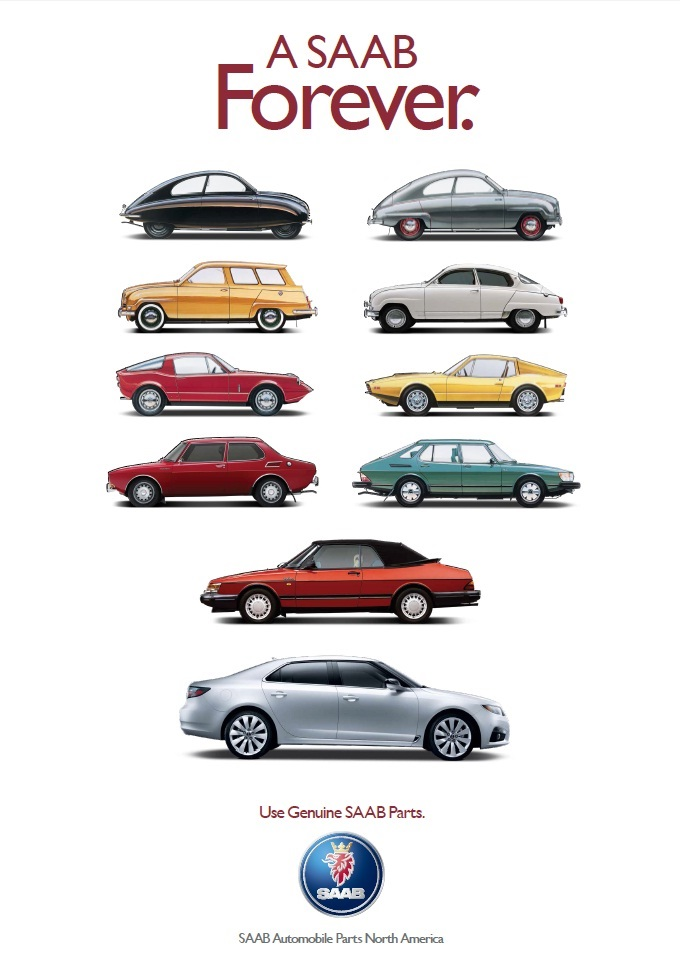A Saab Forever Poster (24in x 36in)