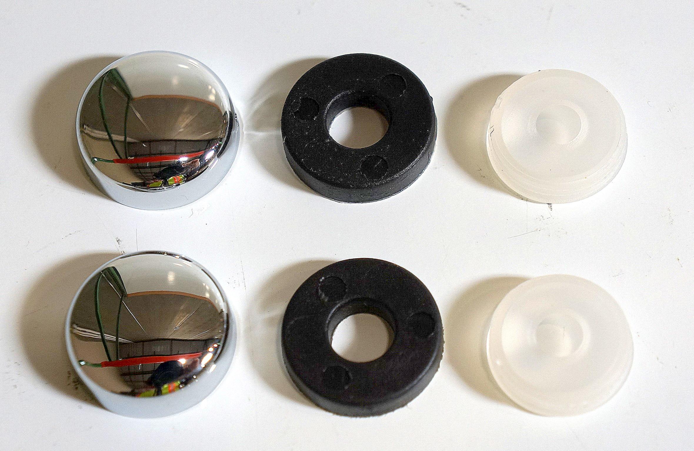 License Plate Screw Caps (2) (Silver)