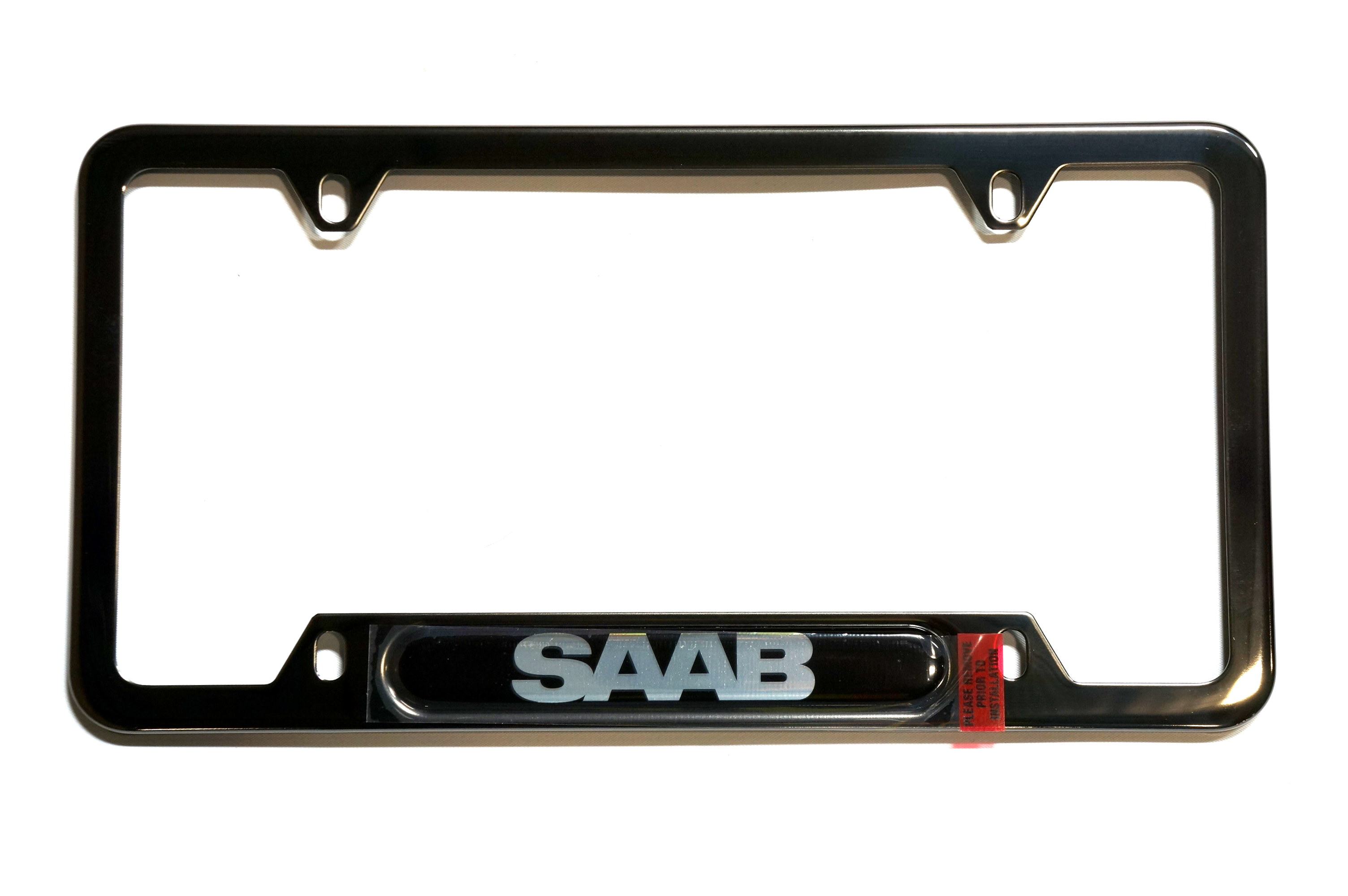 License Plate Frame - SAAB (Black on Black)