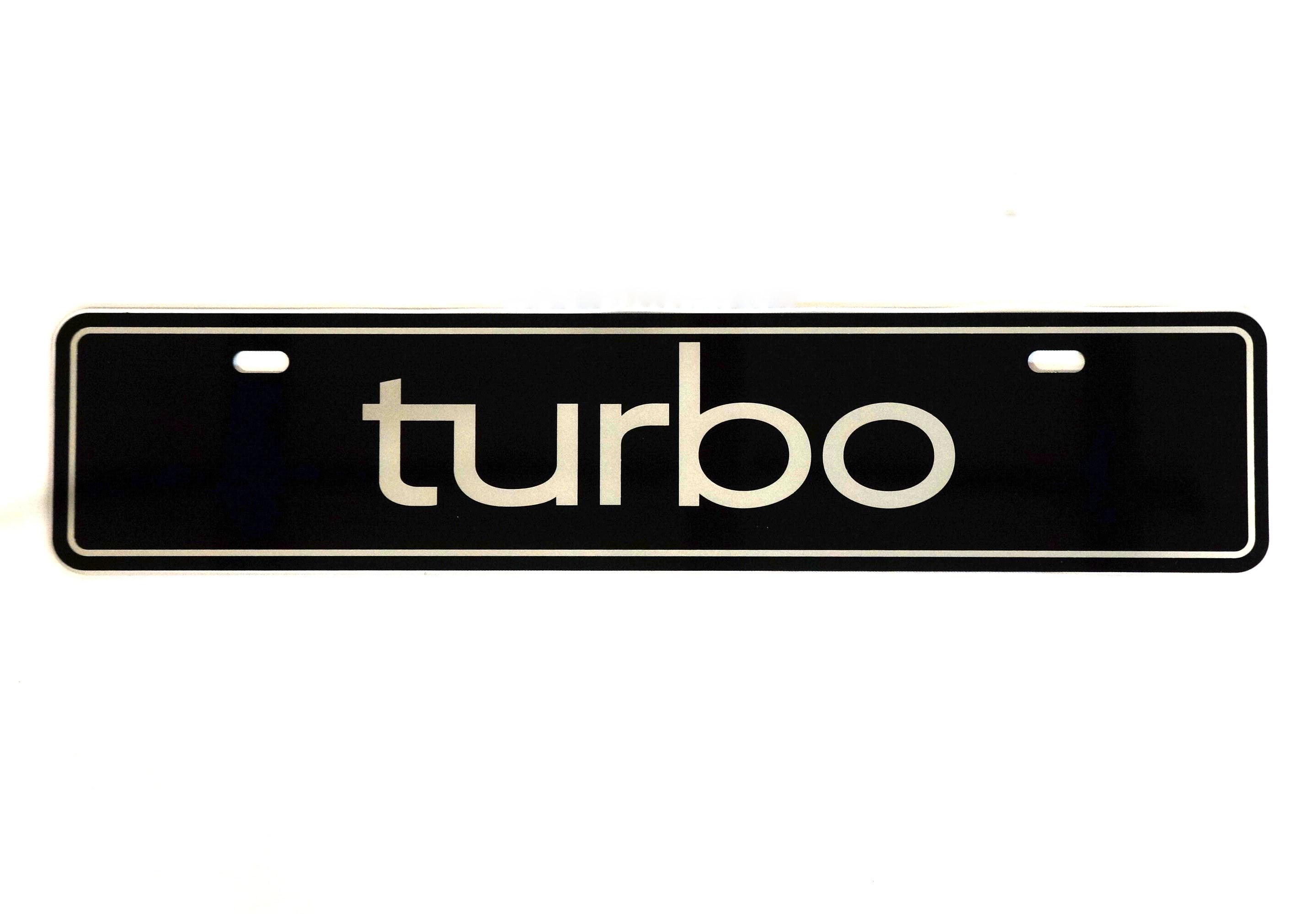 Euro Vanity Plate (turbo)