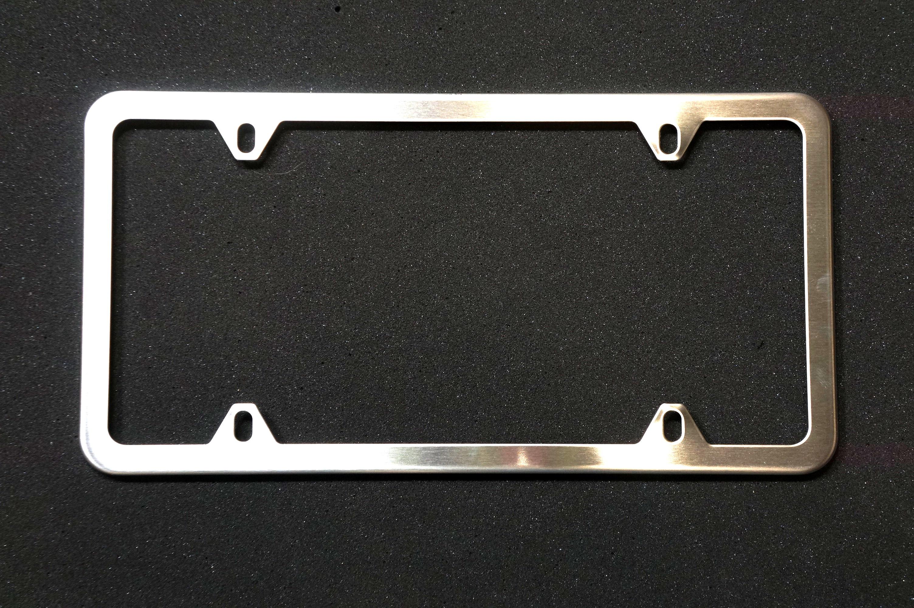 License Plate Frame (Brushed Silver)