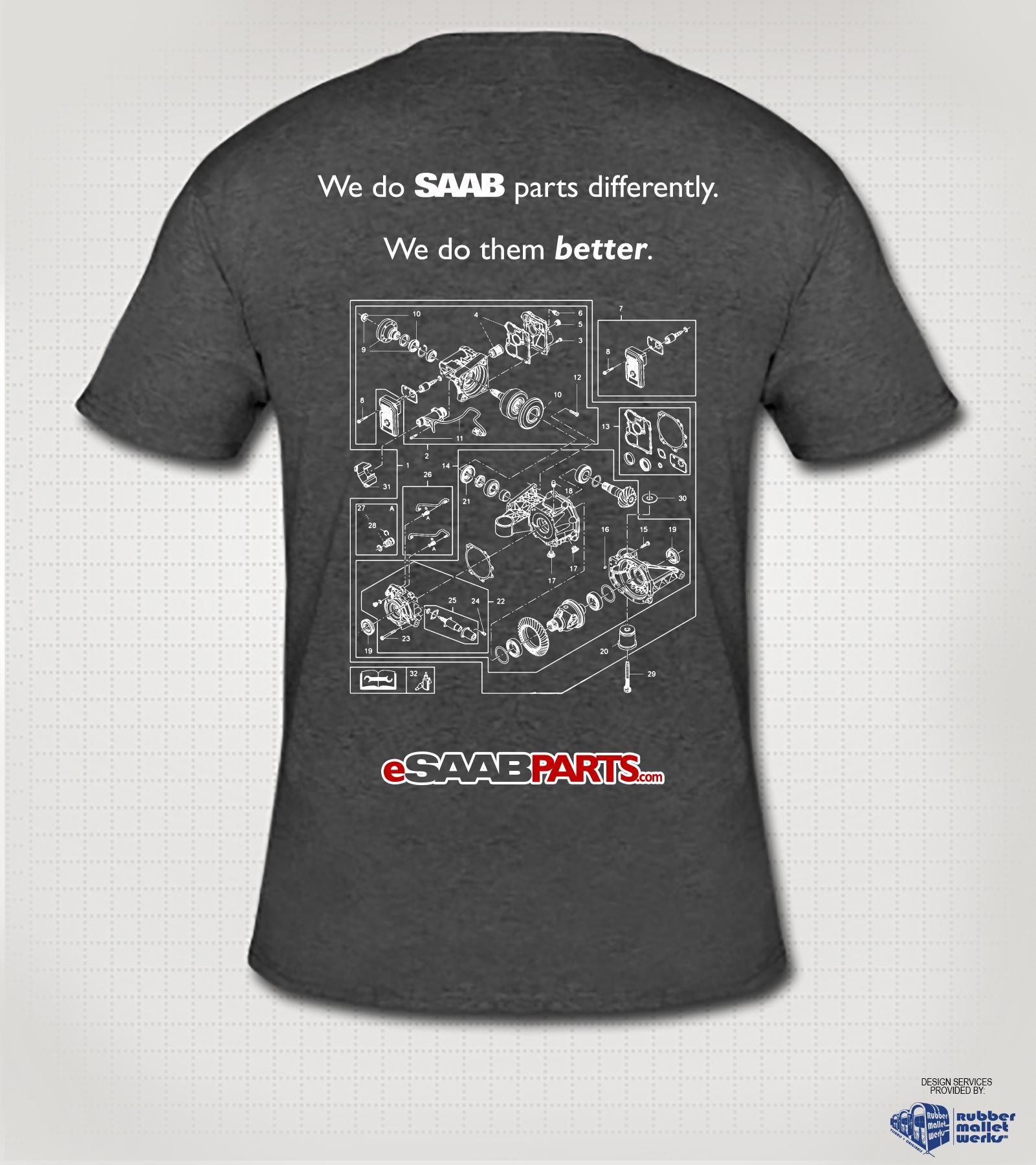 eSaabParts.com Saab XWD T-Shirt (S)