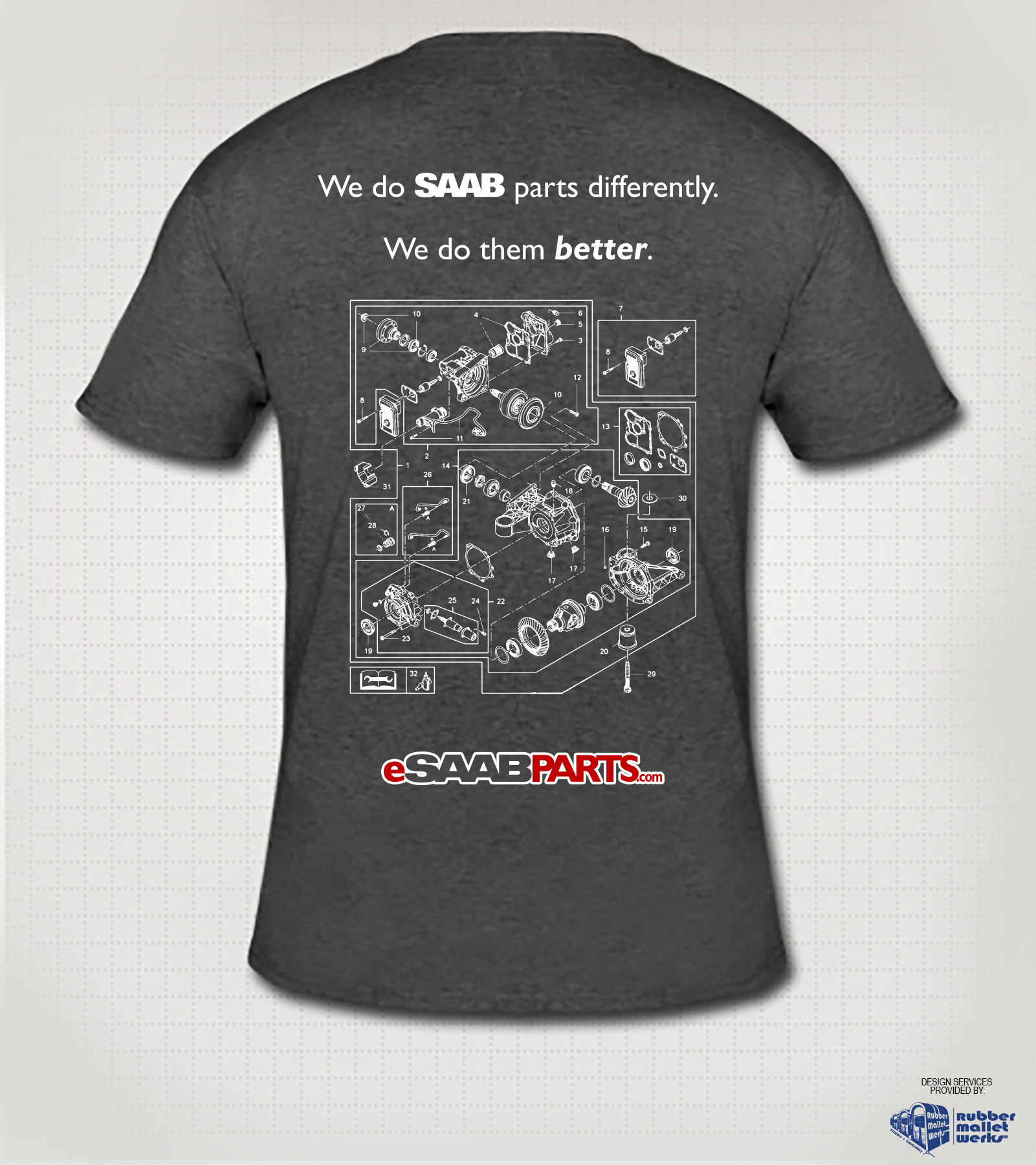 eSaabParts.com Saab XWD T-Shirt (L)