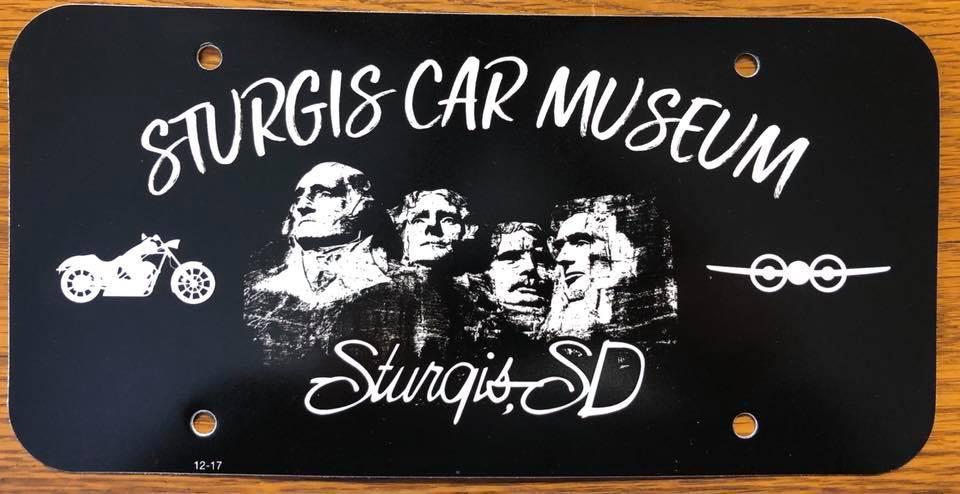 Sturgis Car Museum Vanity Plate