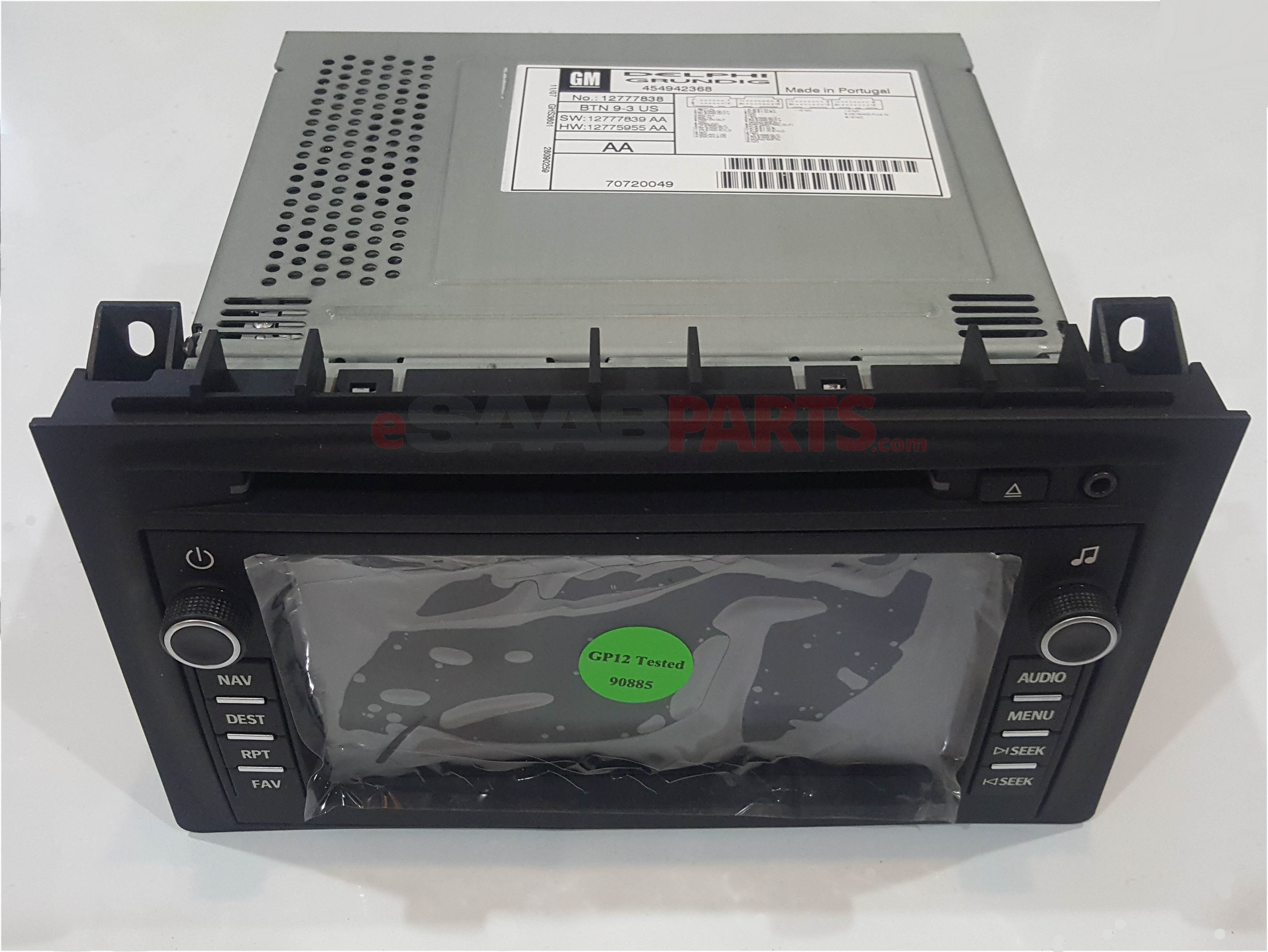 12777838     SAAB       9      3    Navigation Radio w CD Player  USCanada  without Onstar      Saab    Parts from