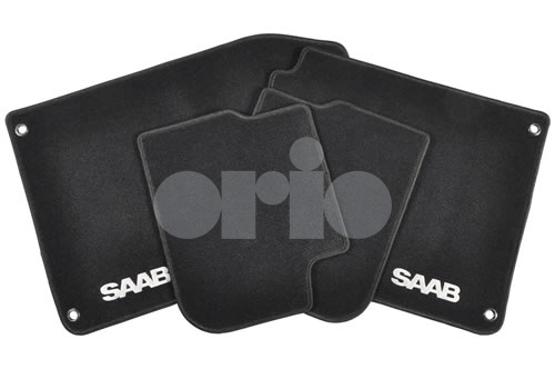 SAAB Floor Mat Set - Black Carpet/Textile (2004-2011 Convertible)