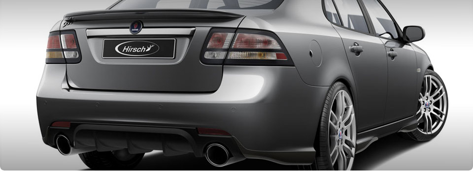 Hirsch Dual Exhaust w/ Diffuser for 9-3 V6 XWD