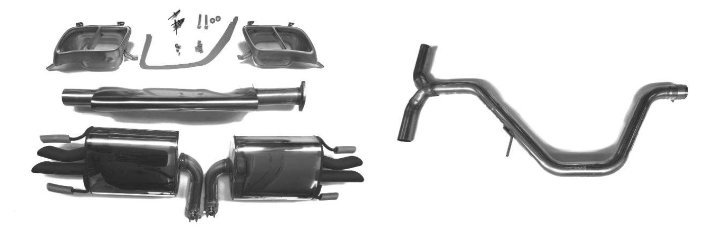 Hirsch 9-5 NG Quad Exhaust for Turbo4 and BioPower (FWD)