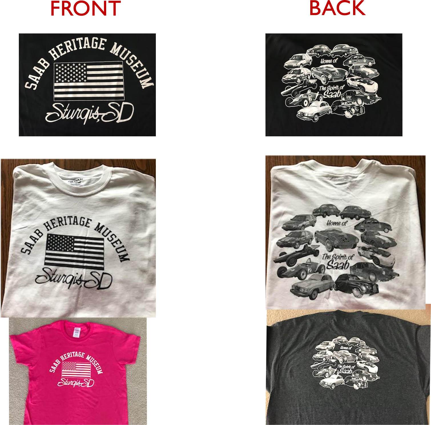 Saab Heritage Museum USA T-Shirt (Black) Small (MENS)
