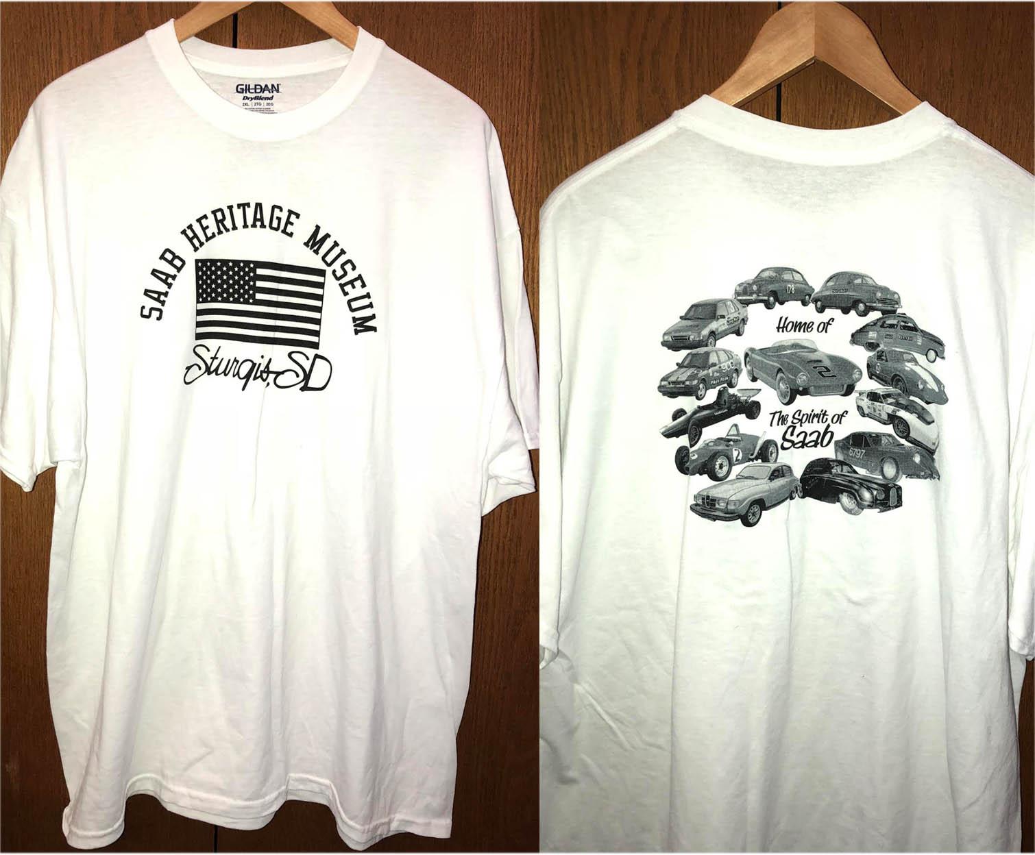 Saab Heritage Museum USA T-Shirt (White) Medium (WOMENS)